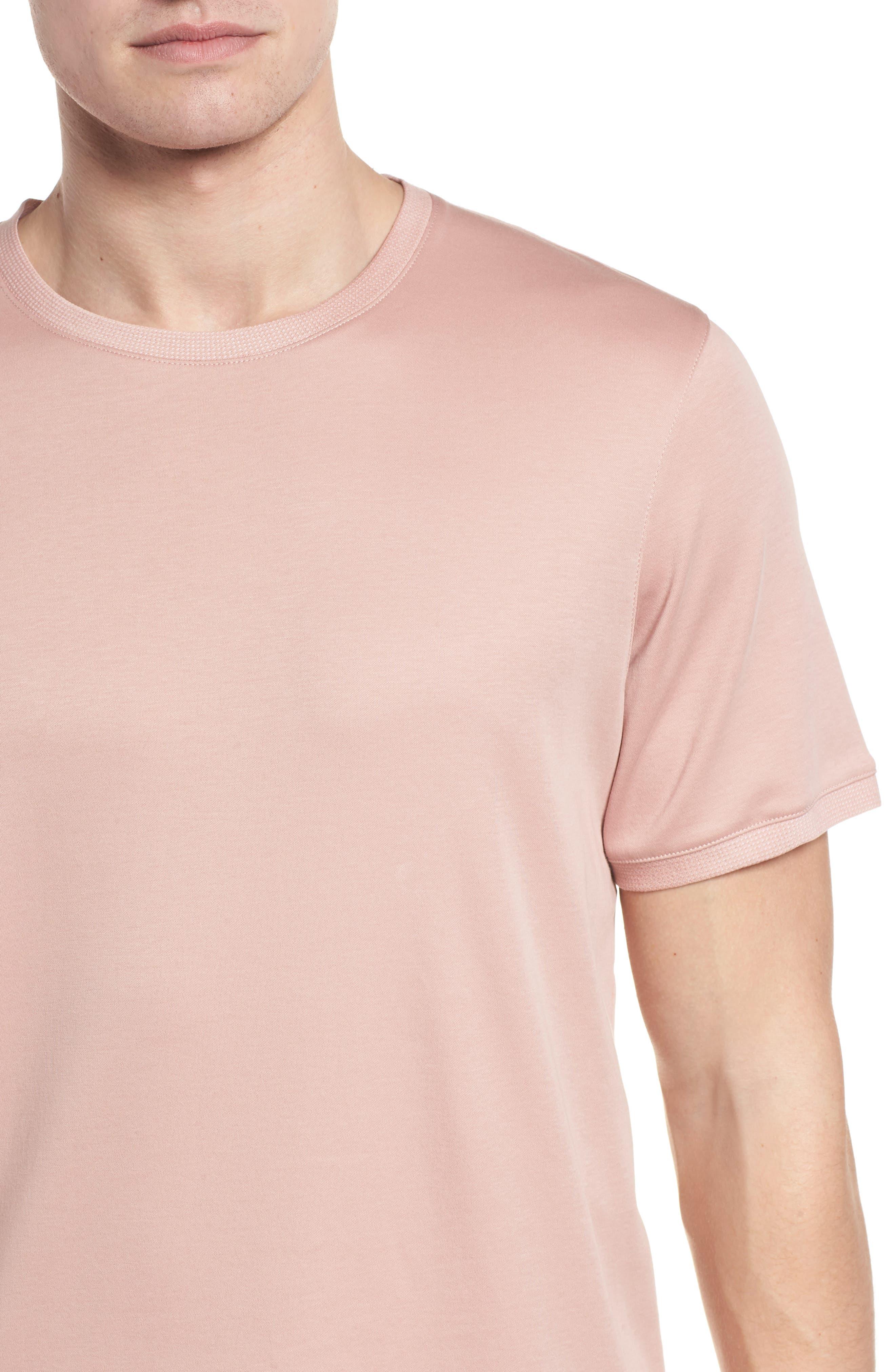 Piktt Crewneck T-Shirt,                             Alternate thumbnail 4, color,                             Dusky Pink
