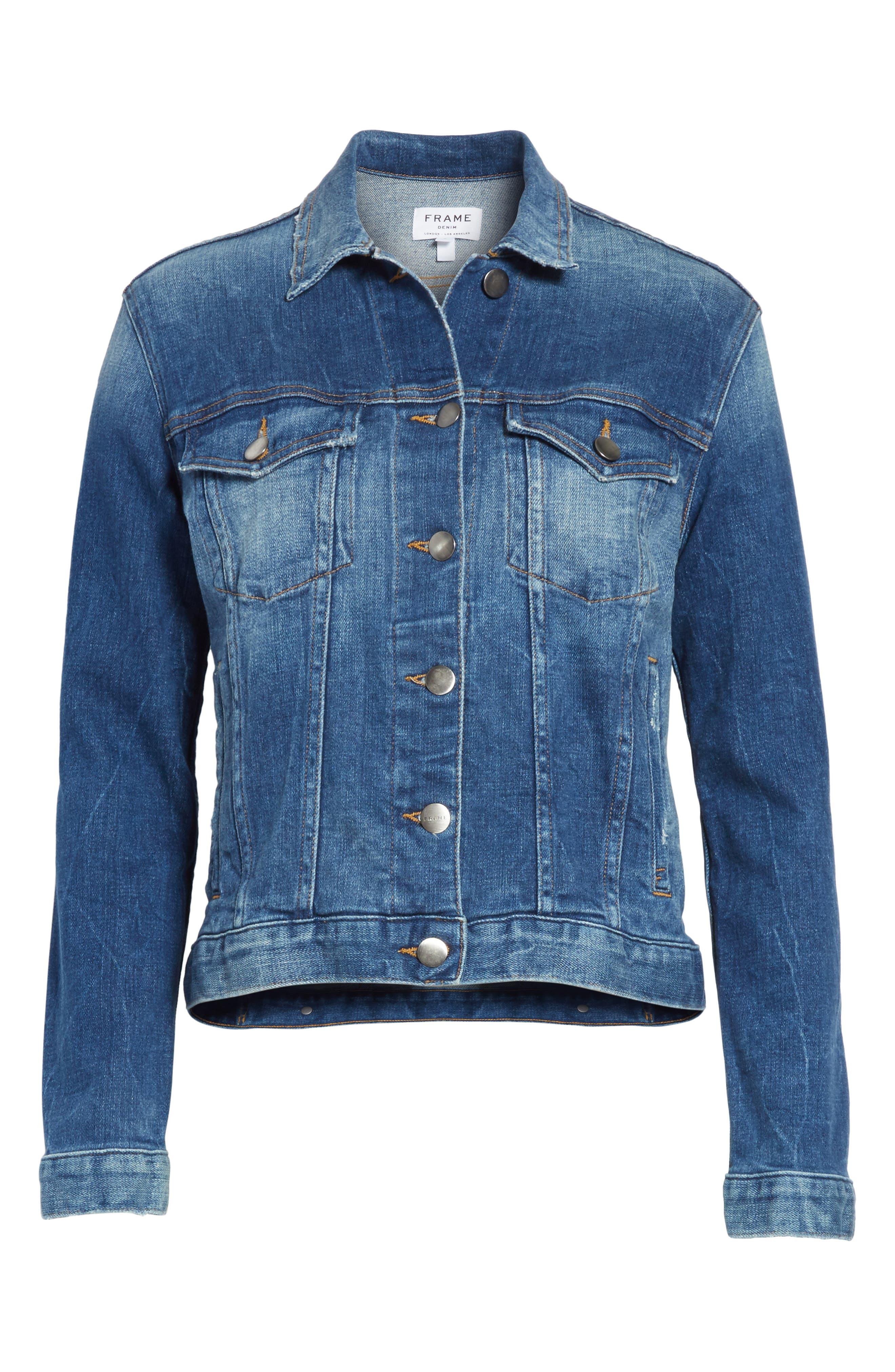 Le Vintage Denim Jacket,                             Alternate thumbnail 7, color,                             Waltham Way