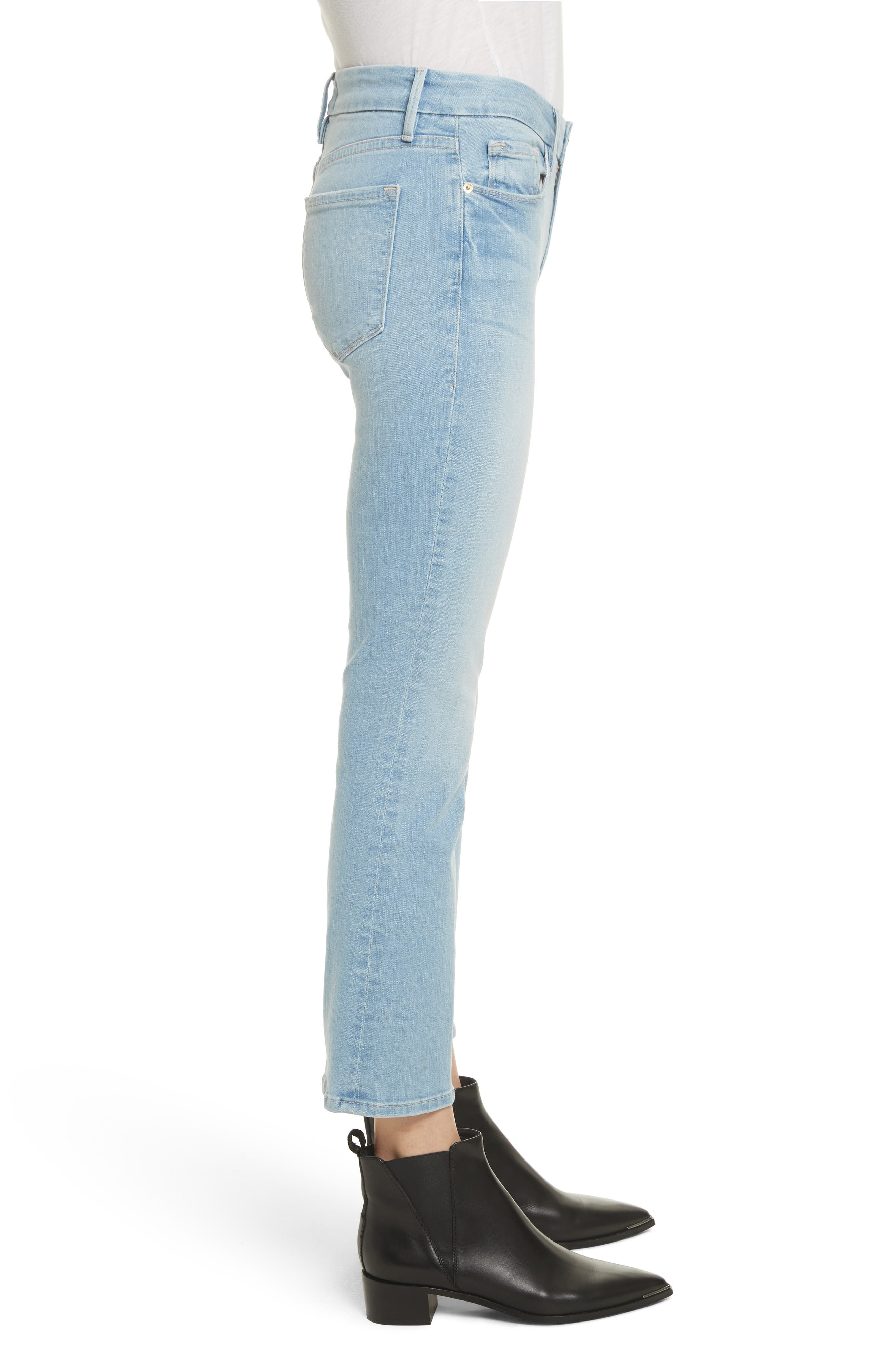 Le Crop Mini Boot Jeans,                             Alternate thumbnail 3, color,                             Kitwood