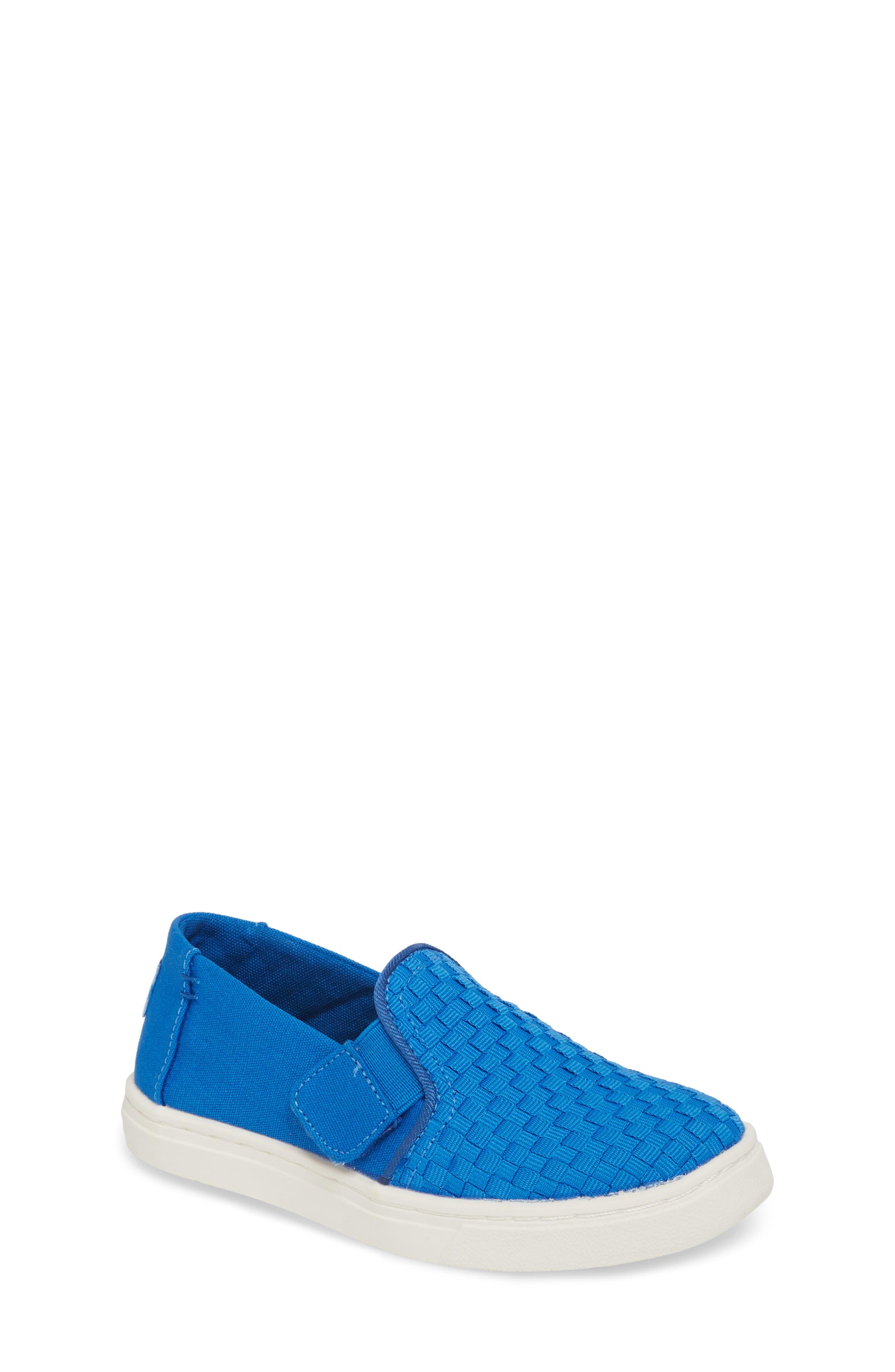 Luca Slip-On Sneaker,                         Main,                         color, Imperial Blue Basketweave