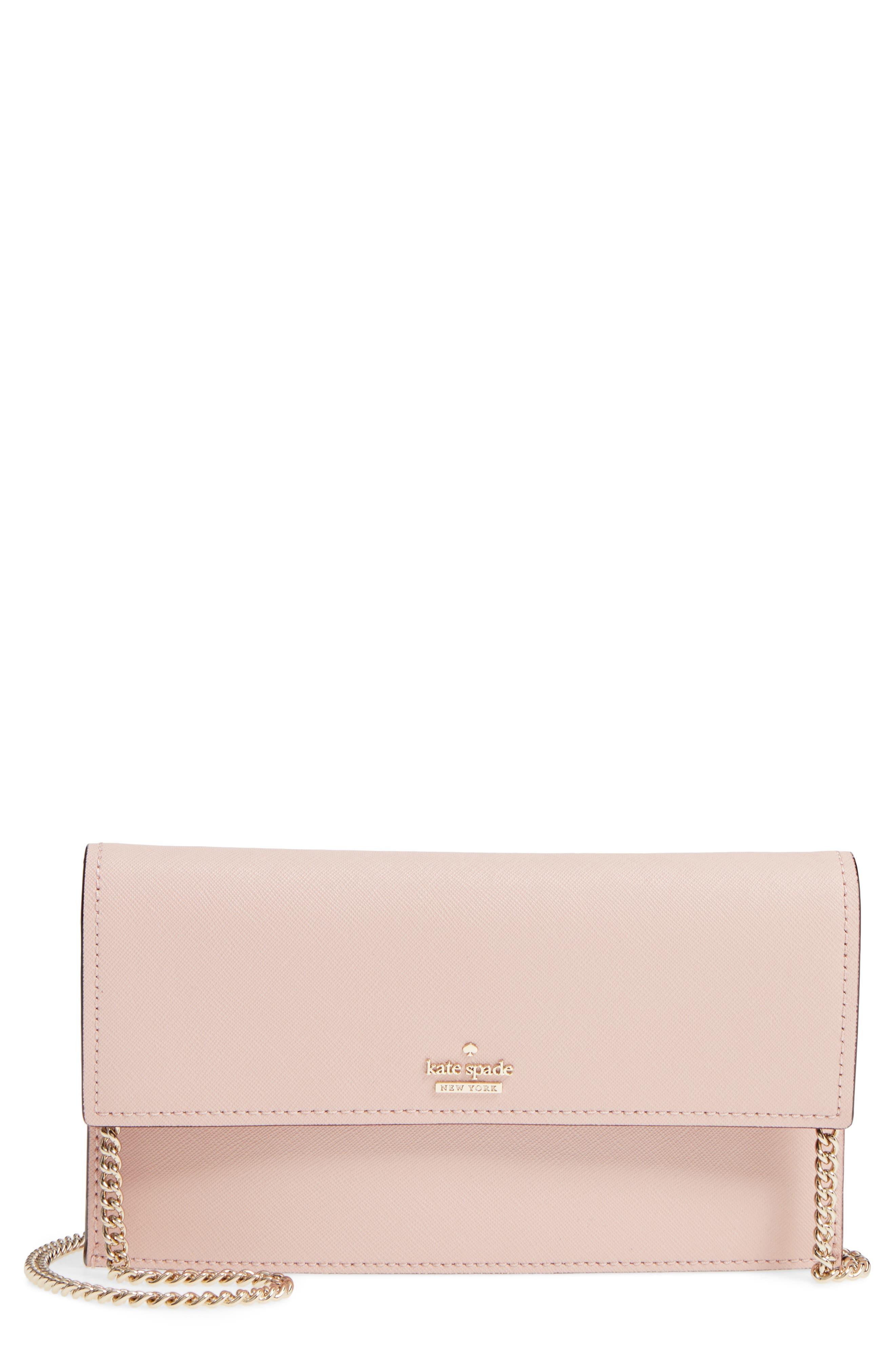 cameron street - brennan leather wallet & card case,                         Main,                         color, Warm Vellum