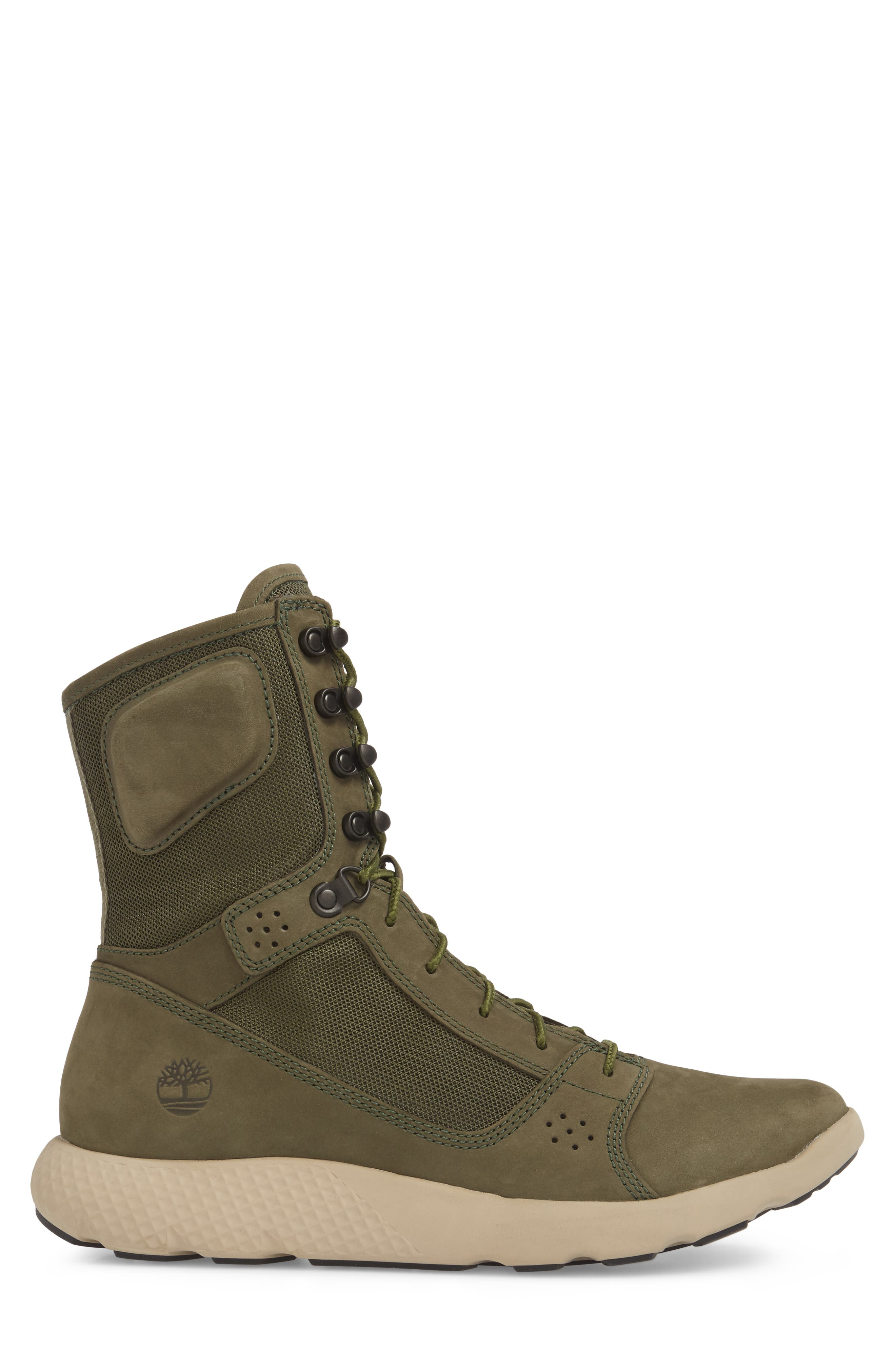 FlyRoam Tactical Boot,                             Alternate thumbnail 3, color,                             Grape Leaf Nubuck Leather