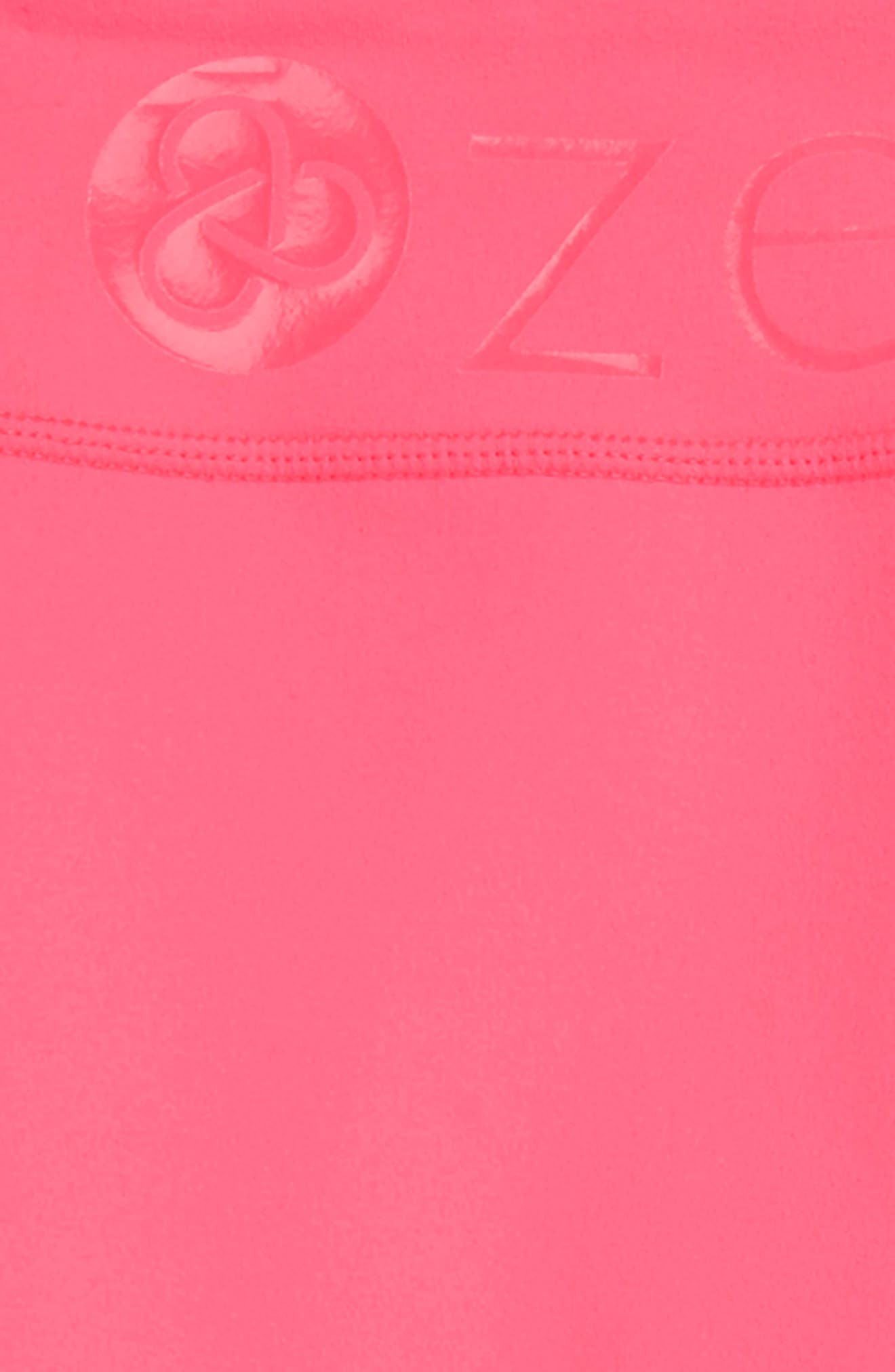 High Waist Leggings,                             Alternate thumbnail 2, color,                             Pink Neon