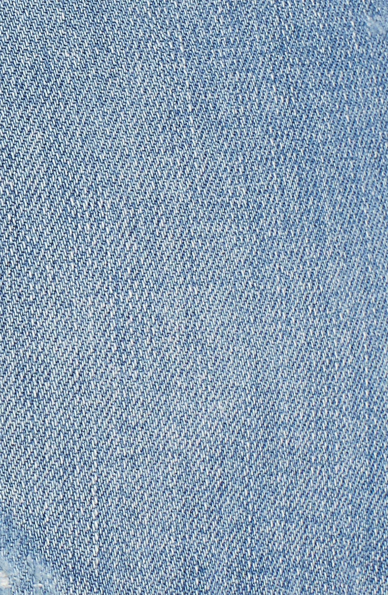 Emmitt High Waist Cutoff Denim Shorts,                             Alternate thumbnail 6, color,                             Janis Destructed