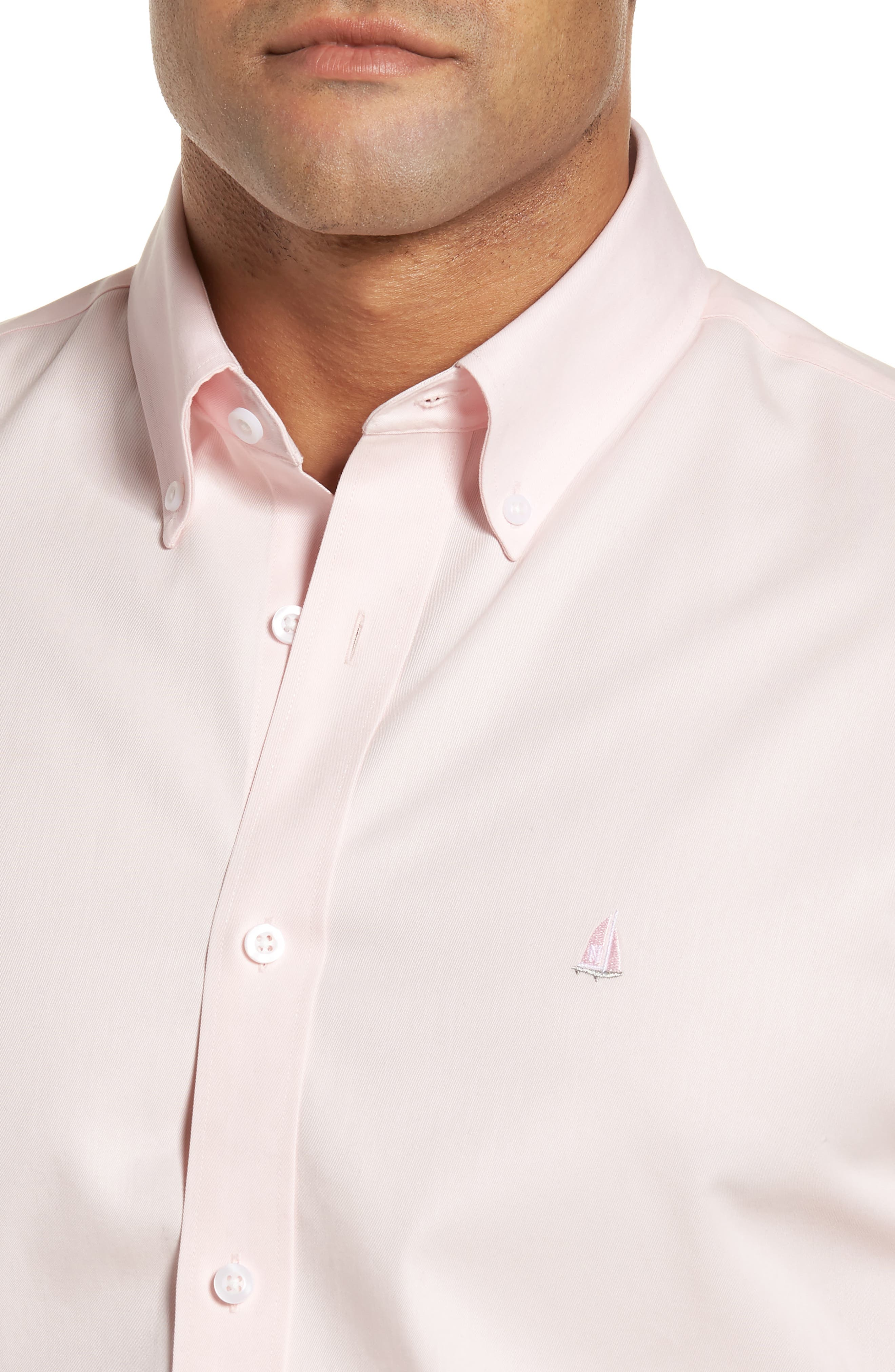 Smartcare<sup>™</sup> Traditional Fit Twill Boat Shirt,                             Alternate thumbnail 2, color,                             Pink Breath