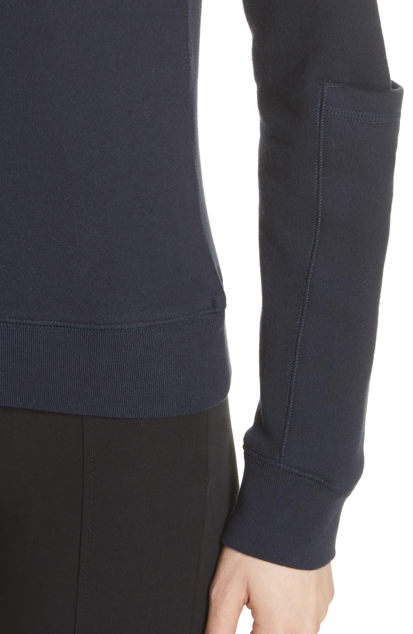 Pocket Sleeve Sweatshirt,                             Alternate thumbnail 4, color,                             Navy