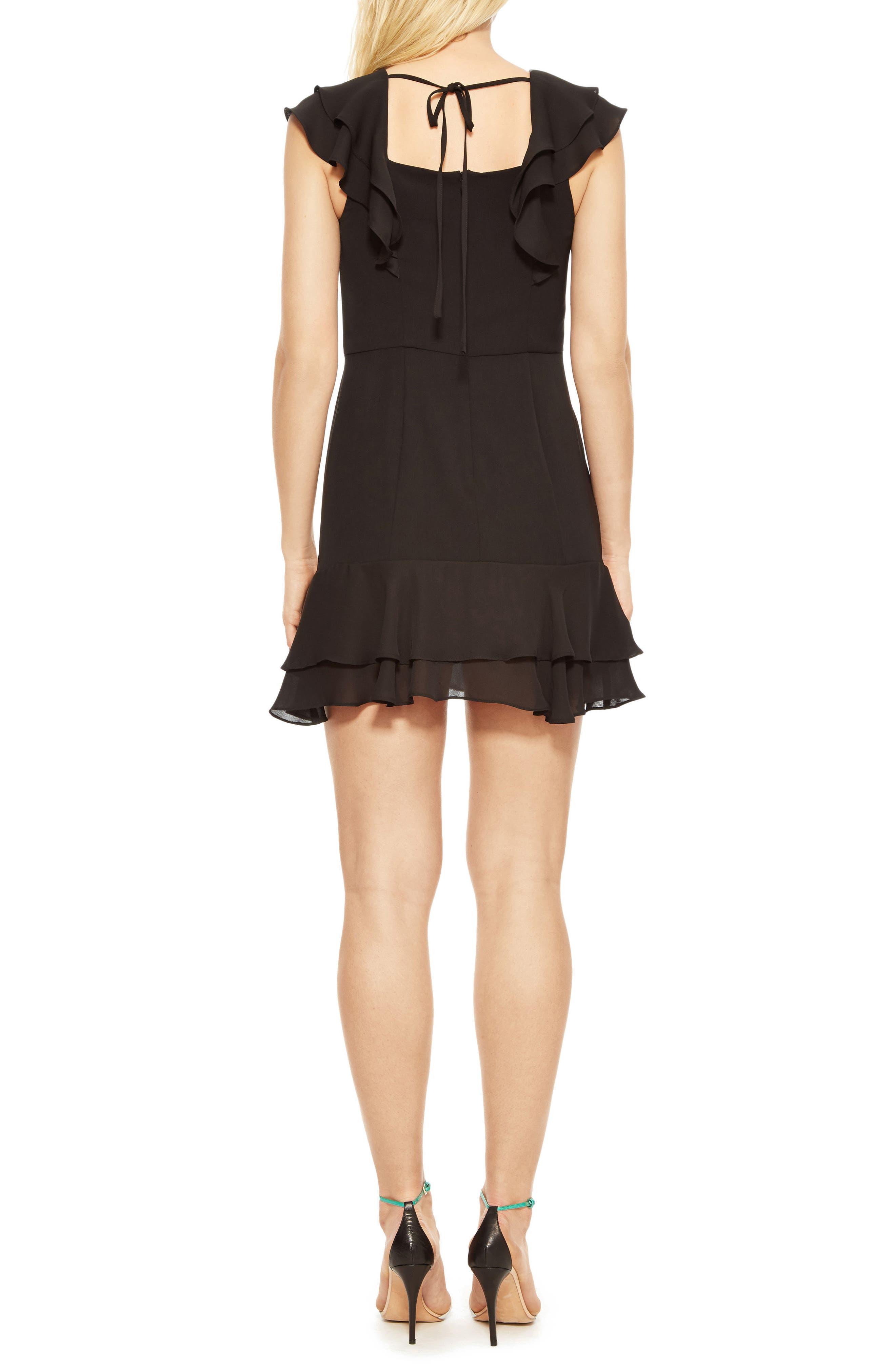 Berlin Ruffle Dress,                             Alternate thumbnail 2, color,                             Black