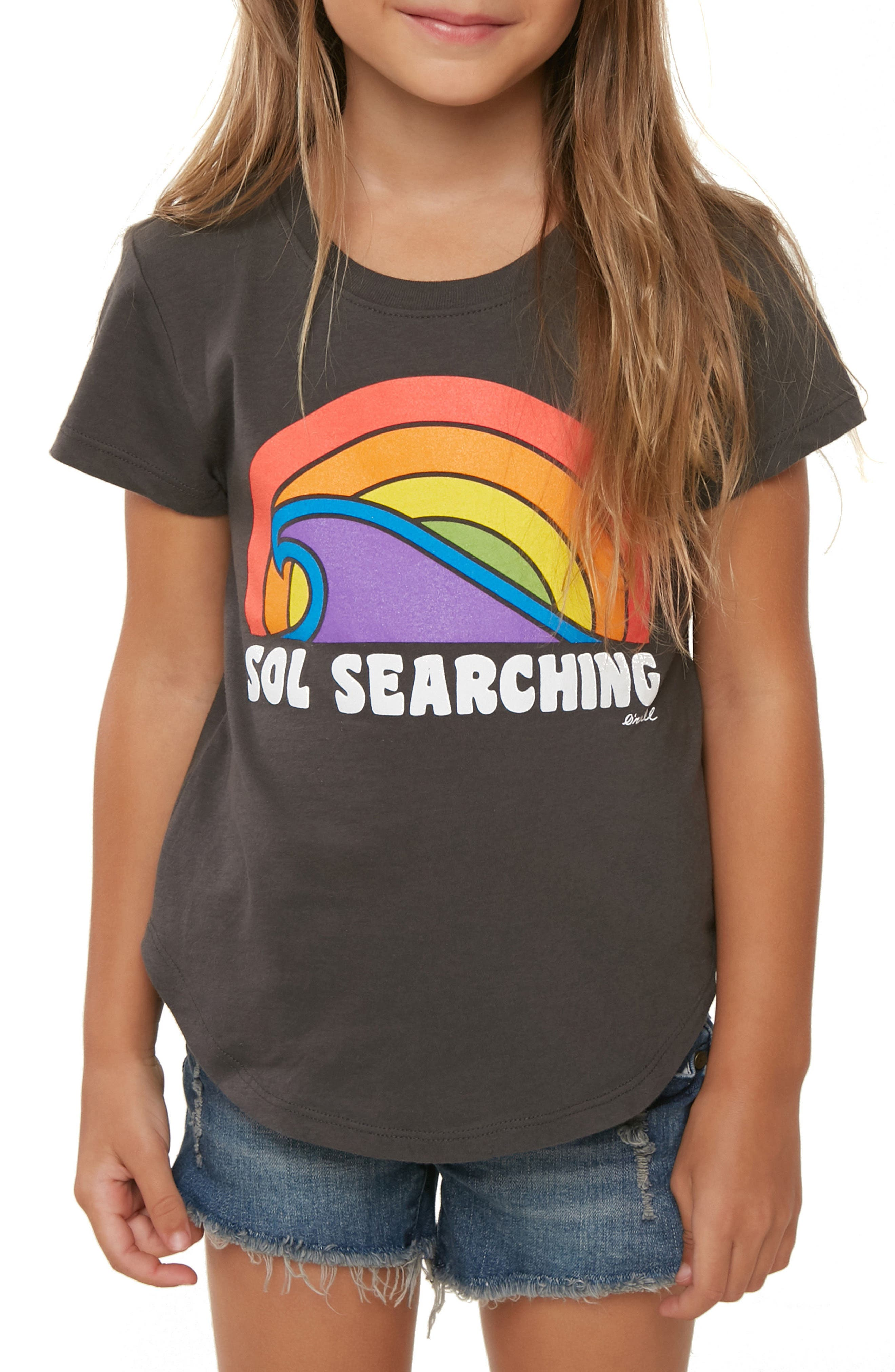 Sol Search Tee,                             Alternate thumbnail 3, color,                             Washed Black