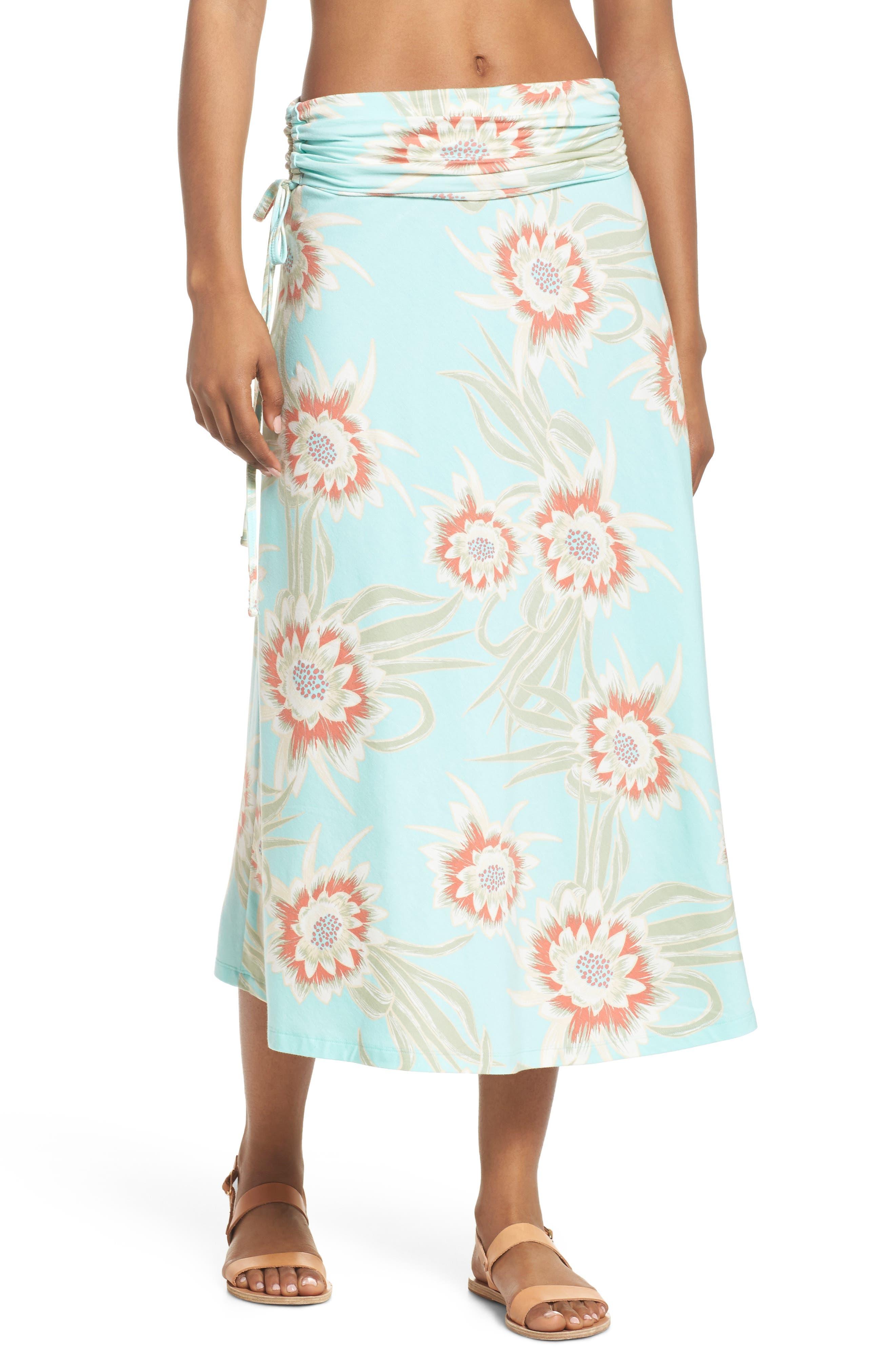 Kamala Maxi Skirt,                         Main,                         color, Cereus Flower Bend