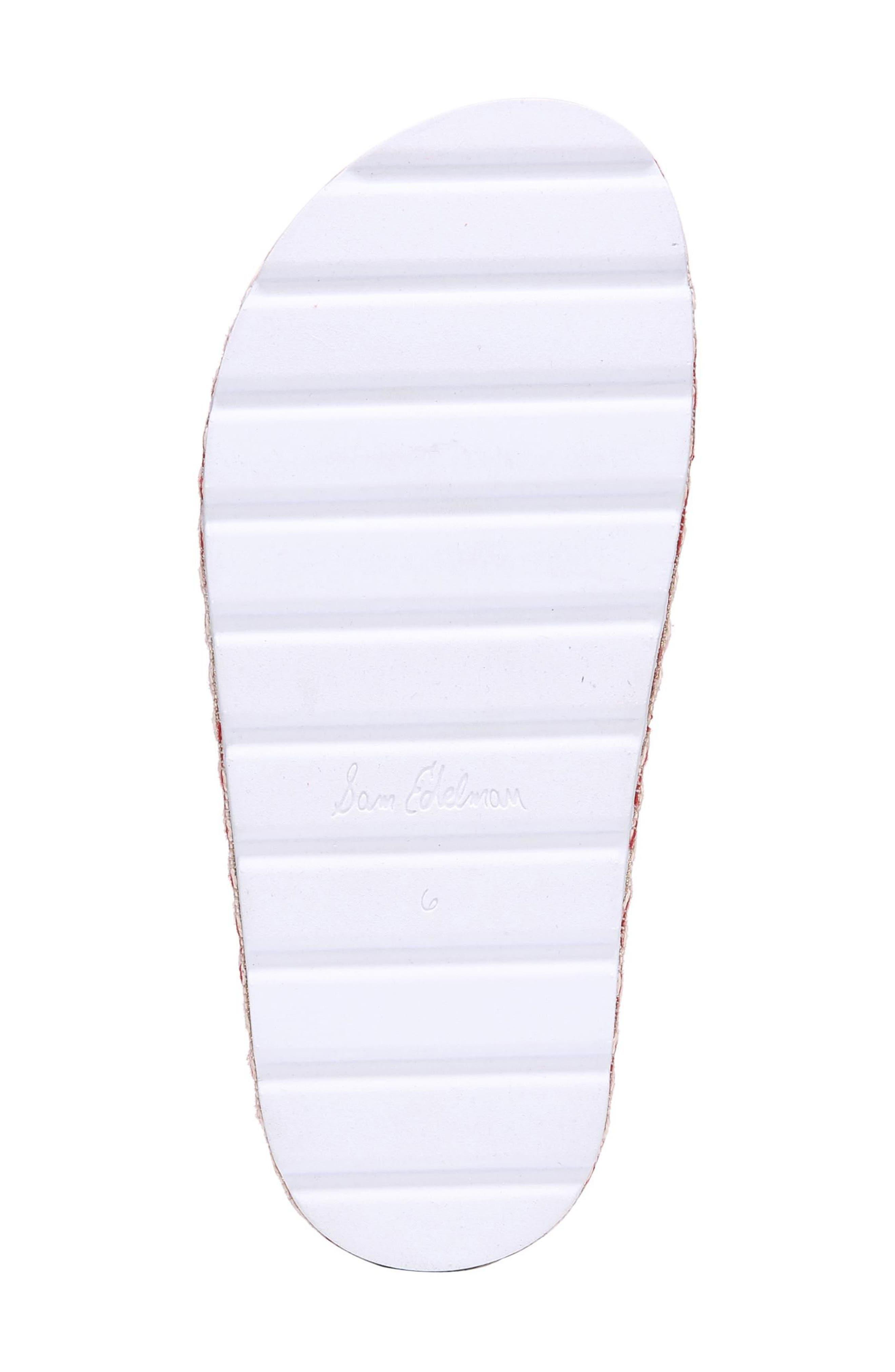 Sadia Slide Sandal,                             Alternate thumbnail 6, color,                             Candy Red Stripe Print Fabric