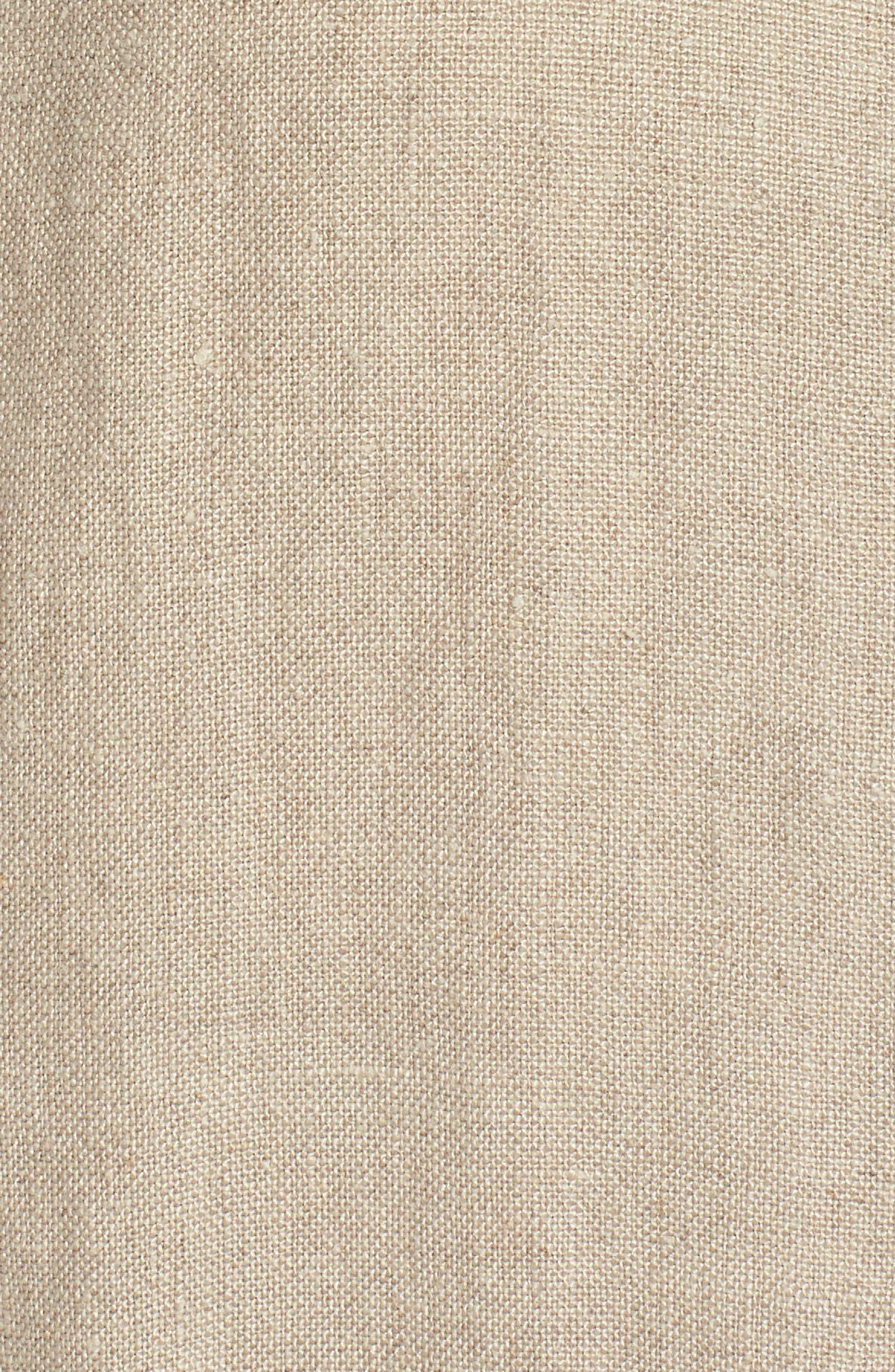 Organic Linen Jacket,                             Alternate thumbnail 6, color,                             Undyed Natural