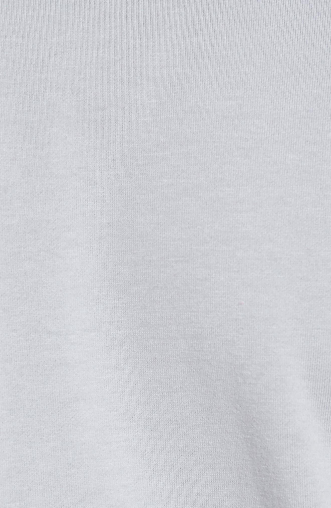 Slim Fit Compact Terry Zip Jacket,                             Alternate thumbnail 5, color,                             Grey Sky/ Light Grey