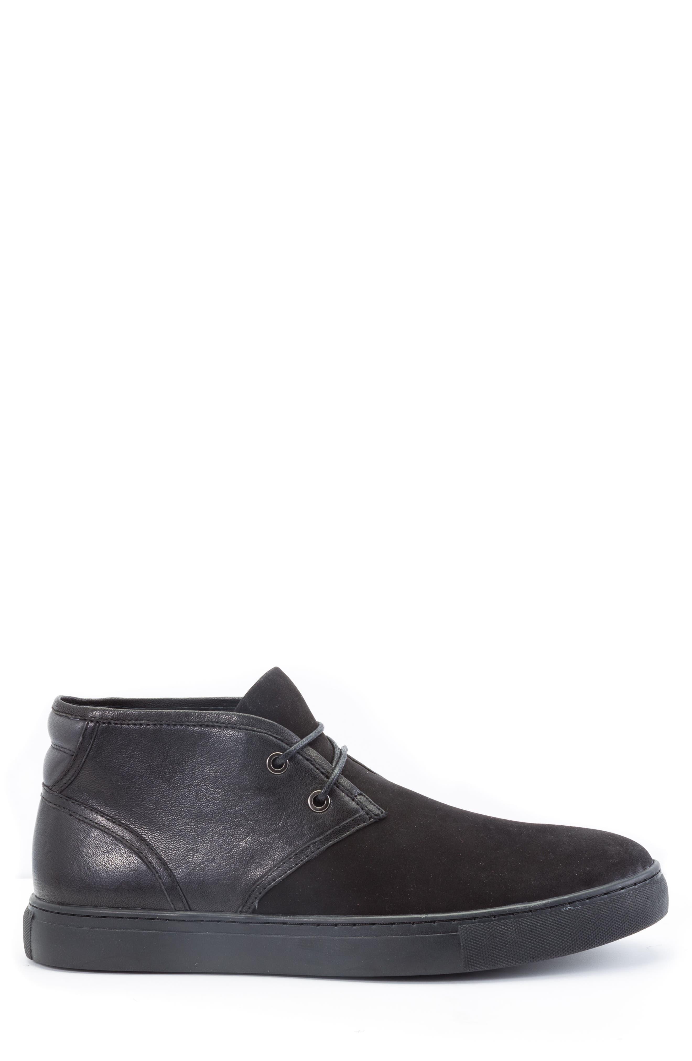 Catlett Chukka Sneaker,                             Alternate thumbnail 3, color,                             Black Suede/ Leather