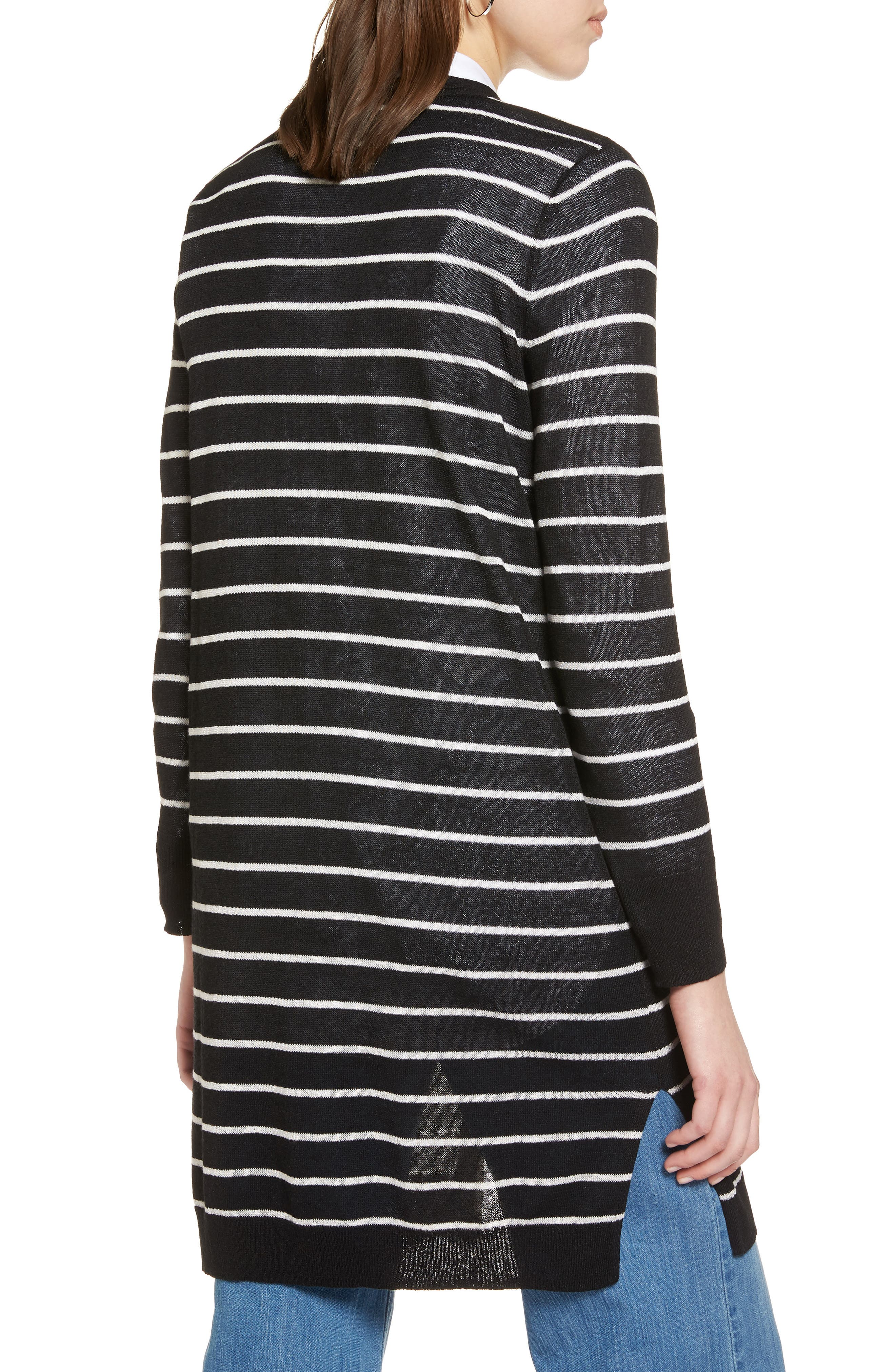Alternate Image 2  - Halogen® Long Linen Blend Cardigan (Regular & Petite)