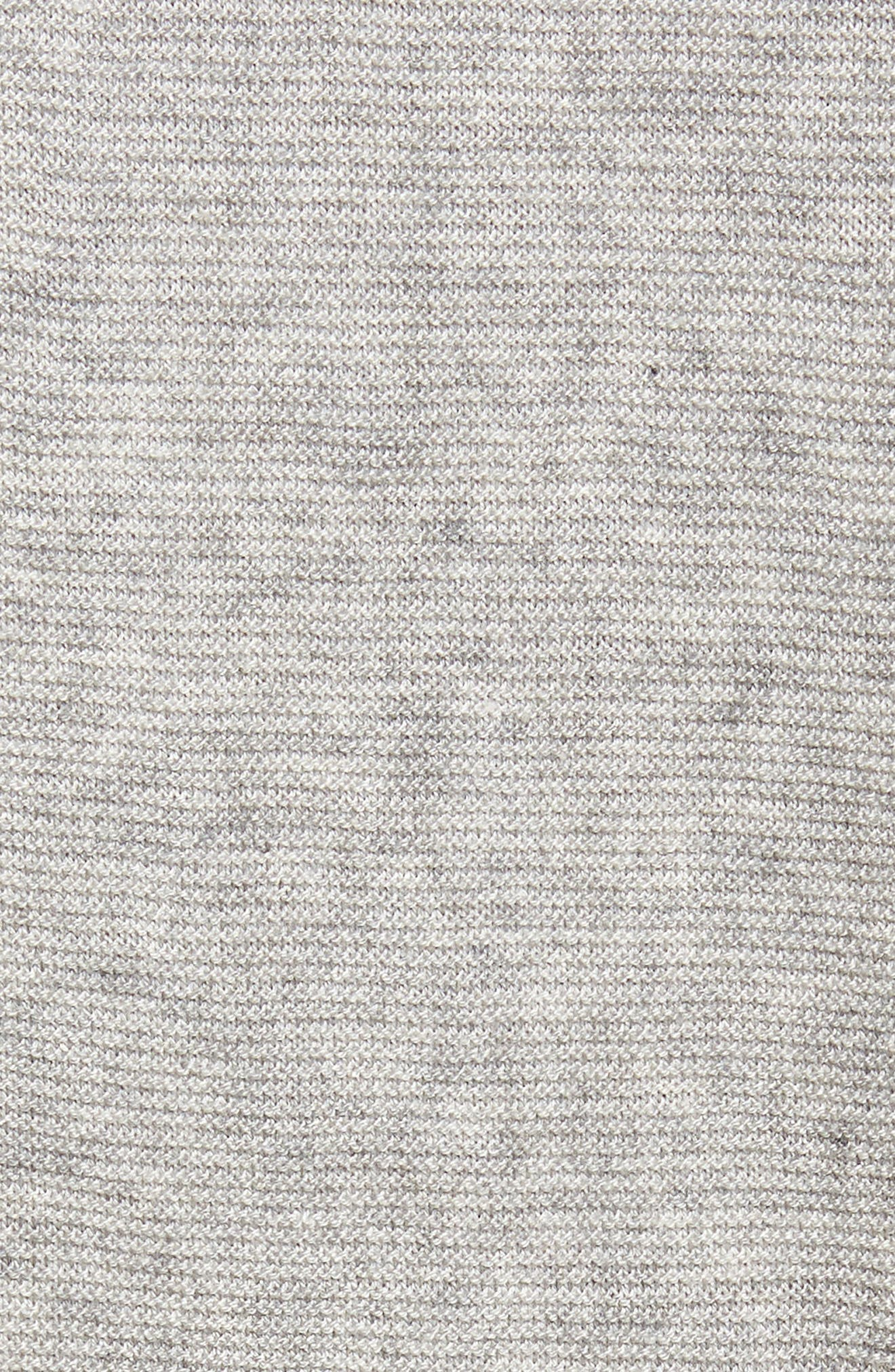 Tailored Fit Henley,                             Alternate thumbnail 5, color,                             Light Grey