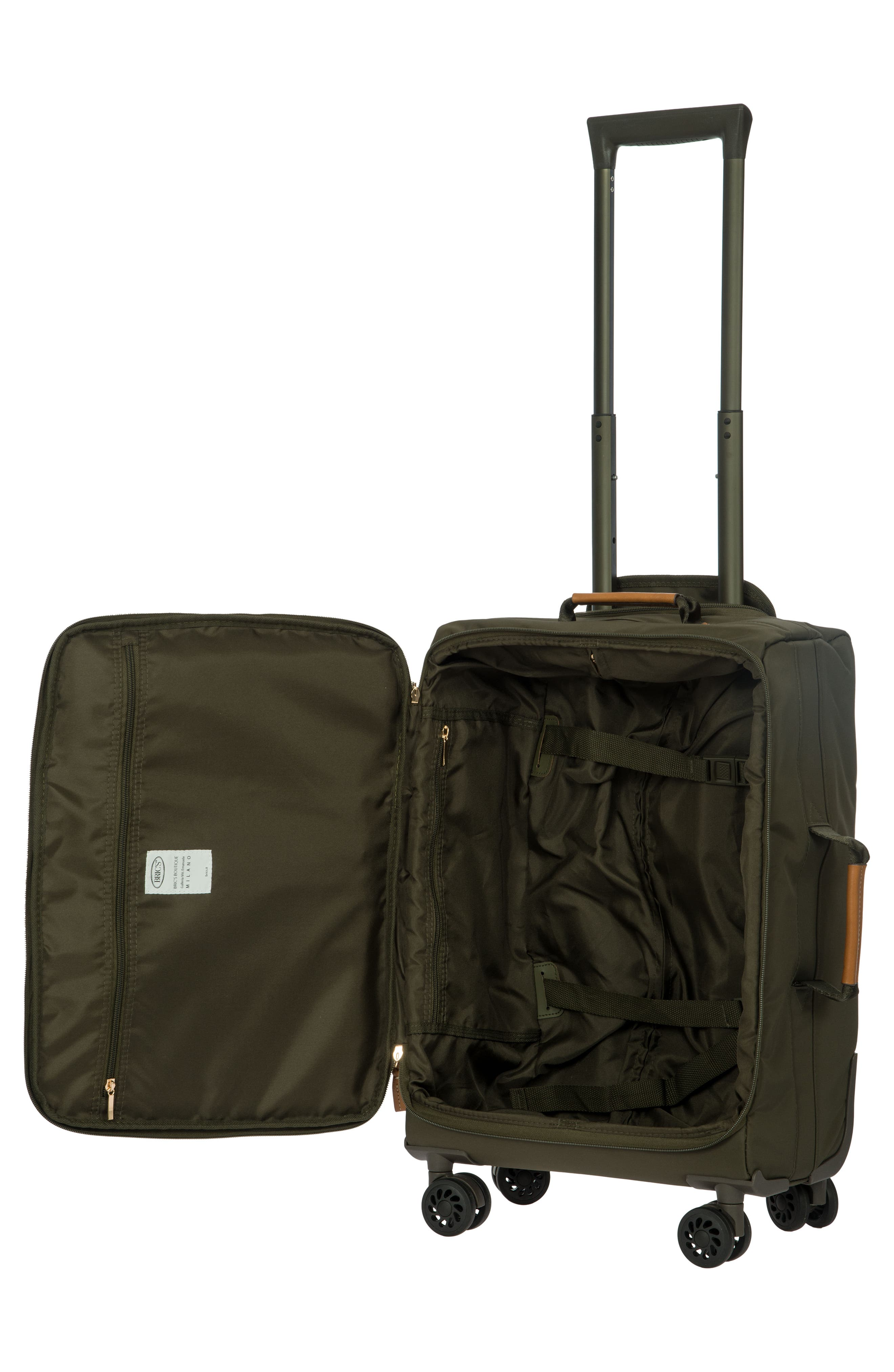 X-Bag 21-Inch Spinner Carry-On,                             Alternate thumbnail 3, color,                             Olive