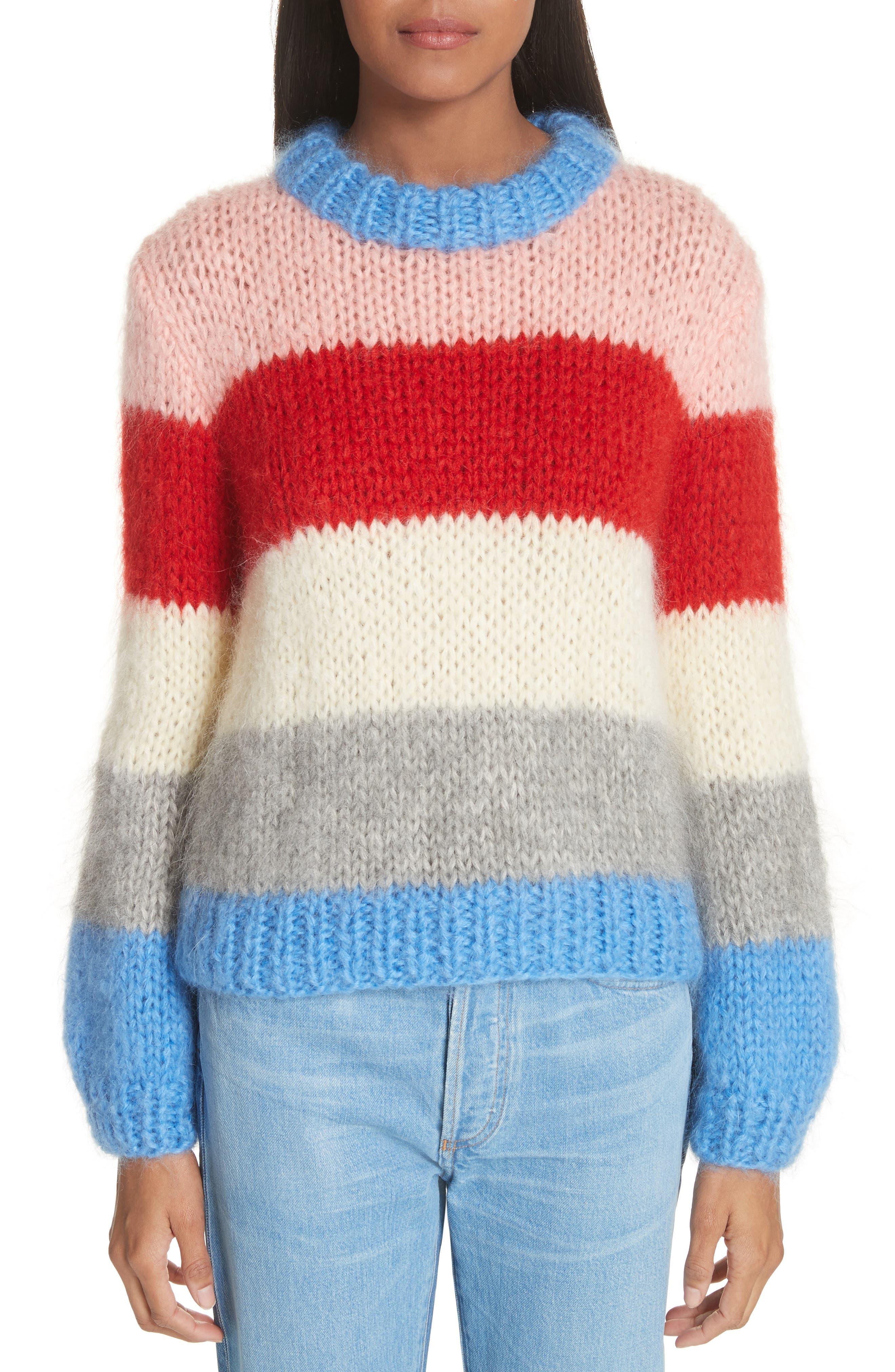 Alternate Image 1 Selected - GANNI Julliard Multistripe Sweater