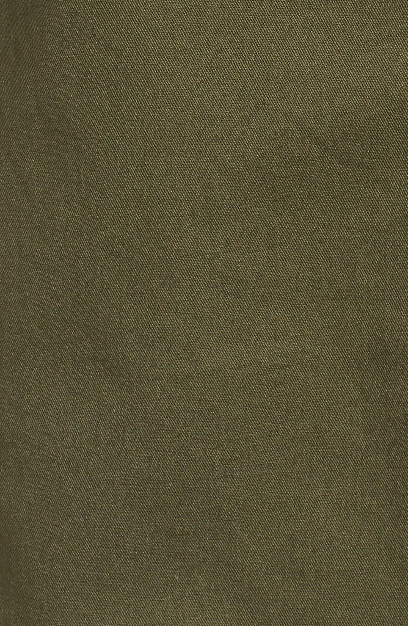 Elongated Hooded Vest,                             Alternate thumbnail 6, color,                             Loden