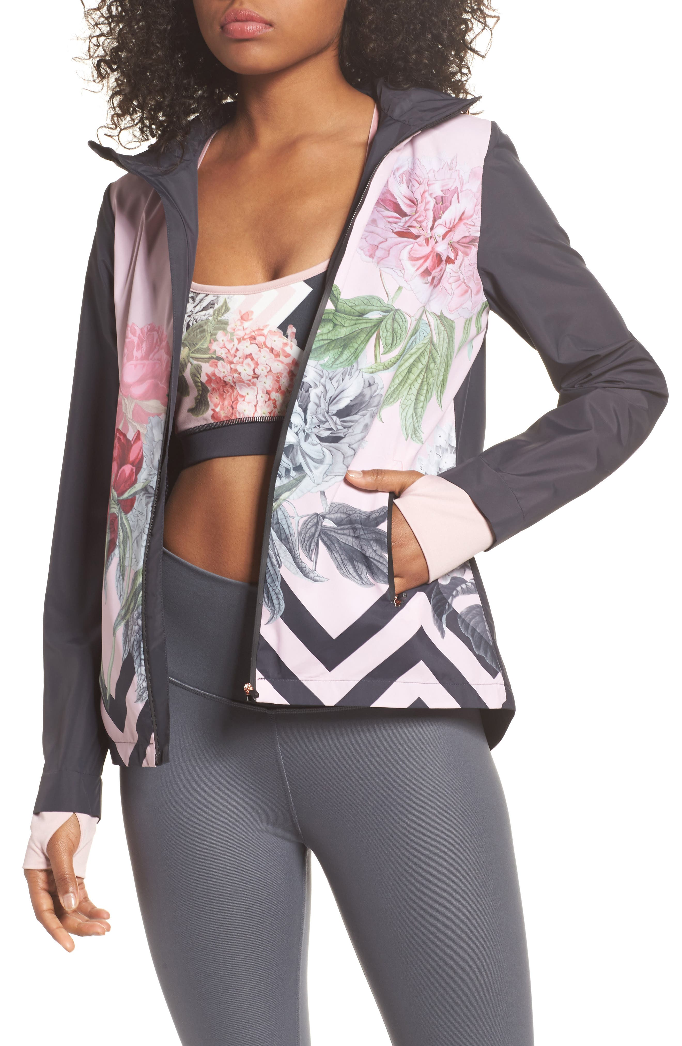 Ted Baker London Palace Gardens Print Hooded Jacket