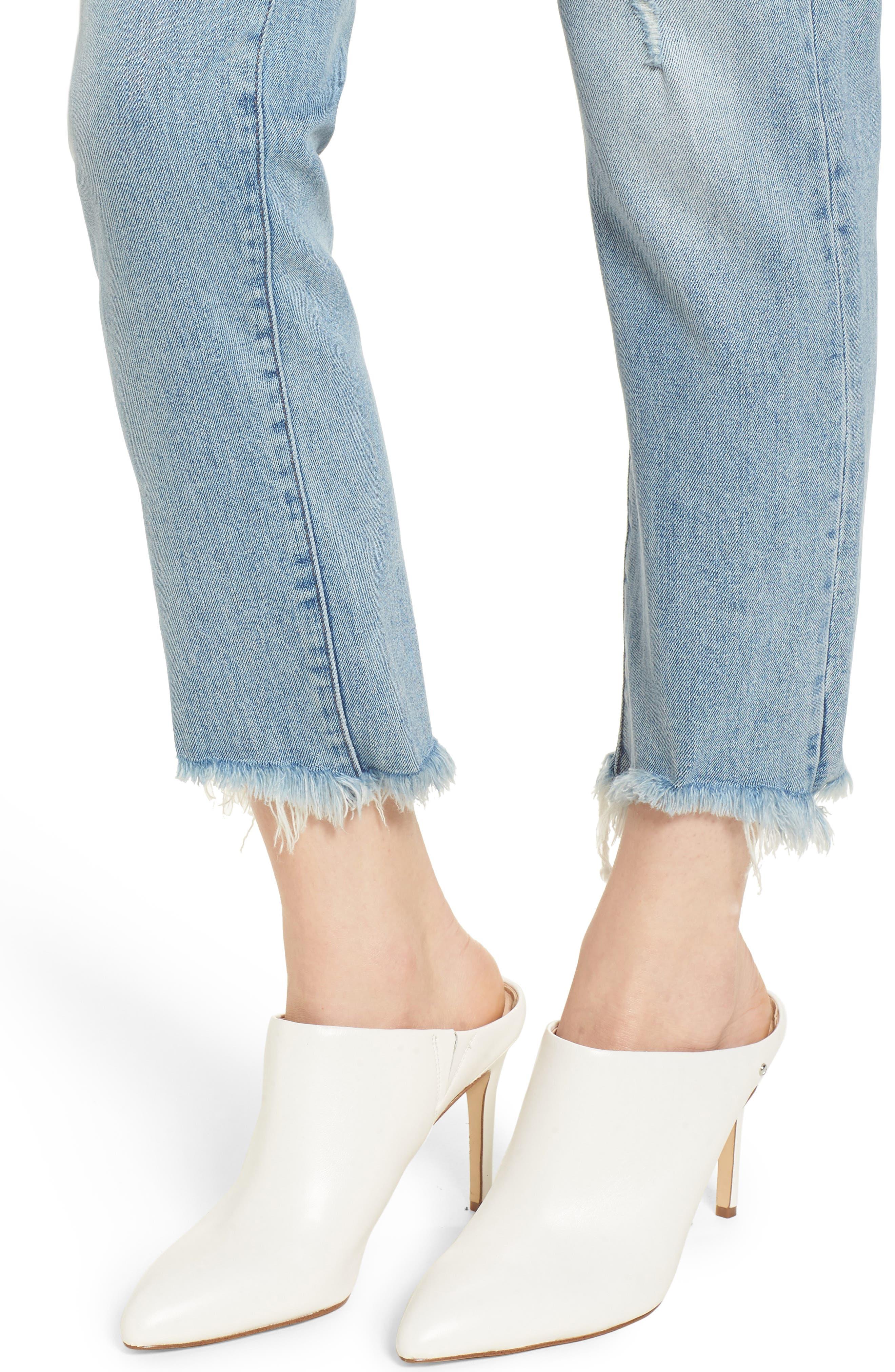 Bella Vintage Crop Slim Jeans,                             Alternate thumbnail 4, color,                             Super Bleach