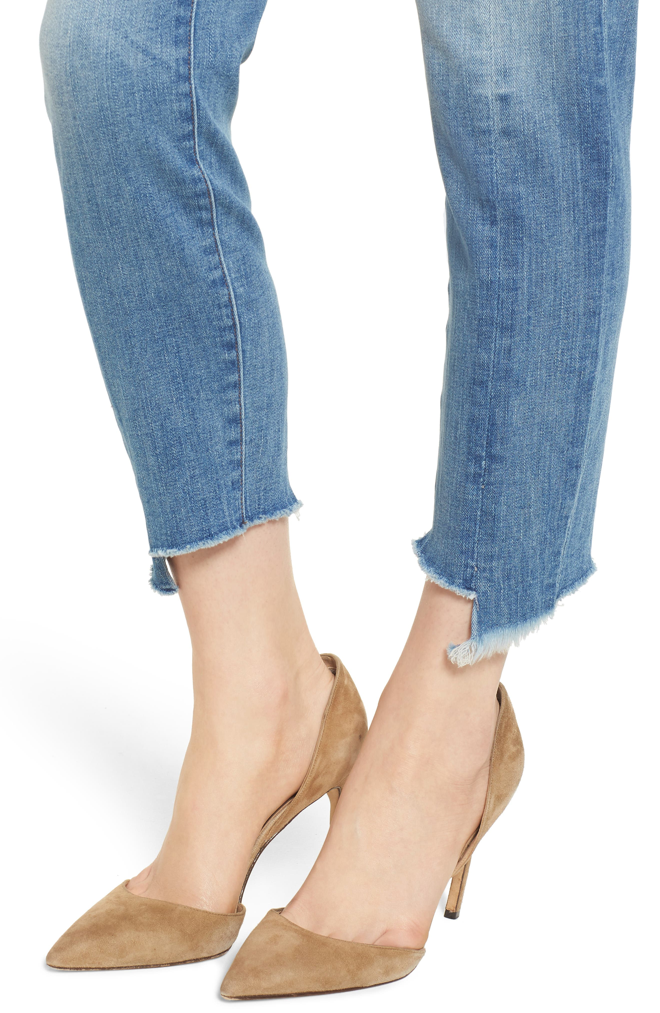 Florence Instasculpt Crop Skinny Jeans,                             Alternate thumbnail 4, color,                             New Town