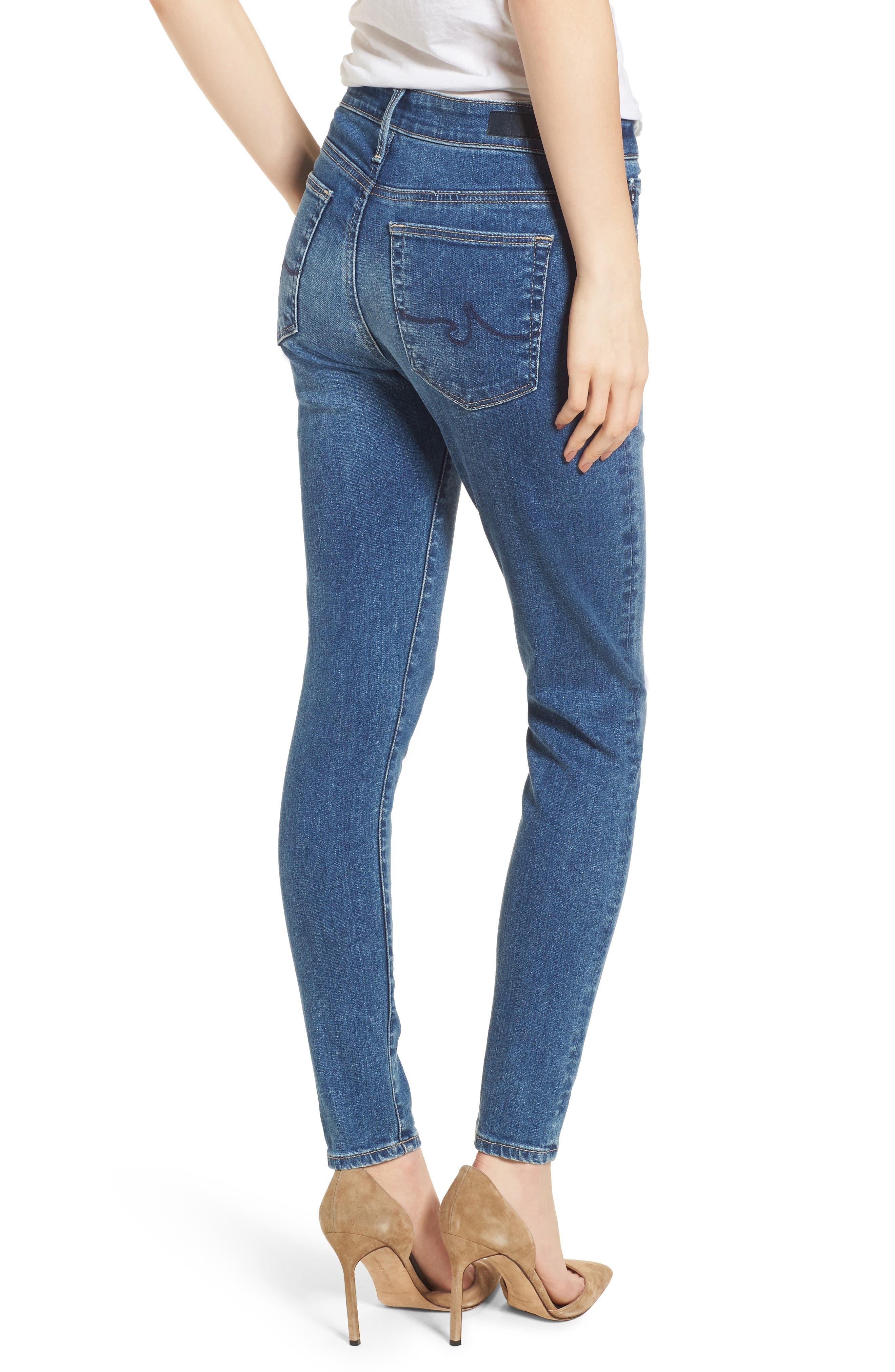 Alternate Image 2  - AG The Farrah Ankle Skinny Jeans (California Blue)