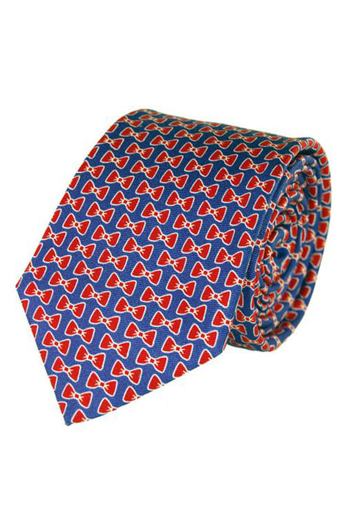 All Tied Up Silk Tie,                         Main,                         color, Blue/ Red