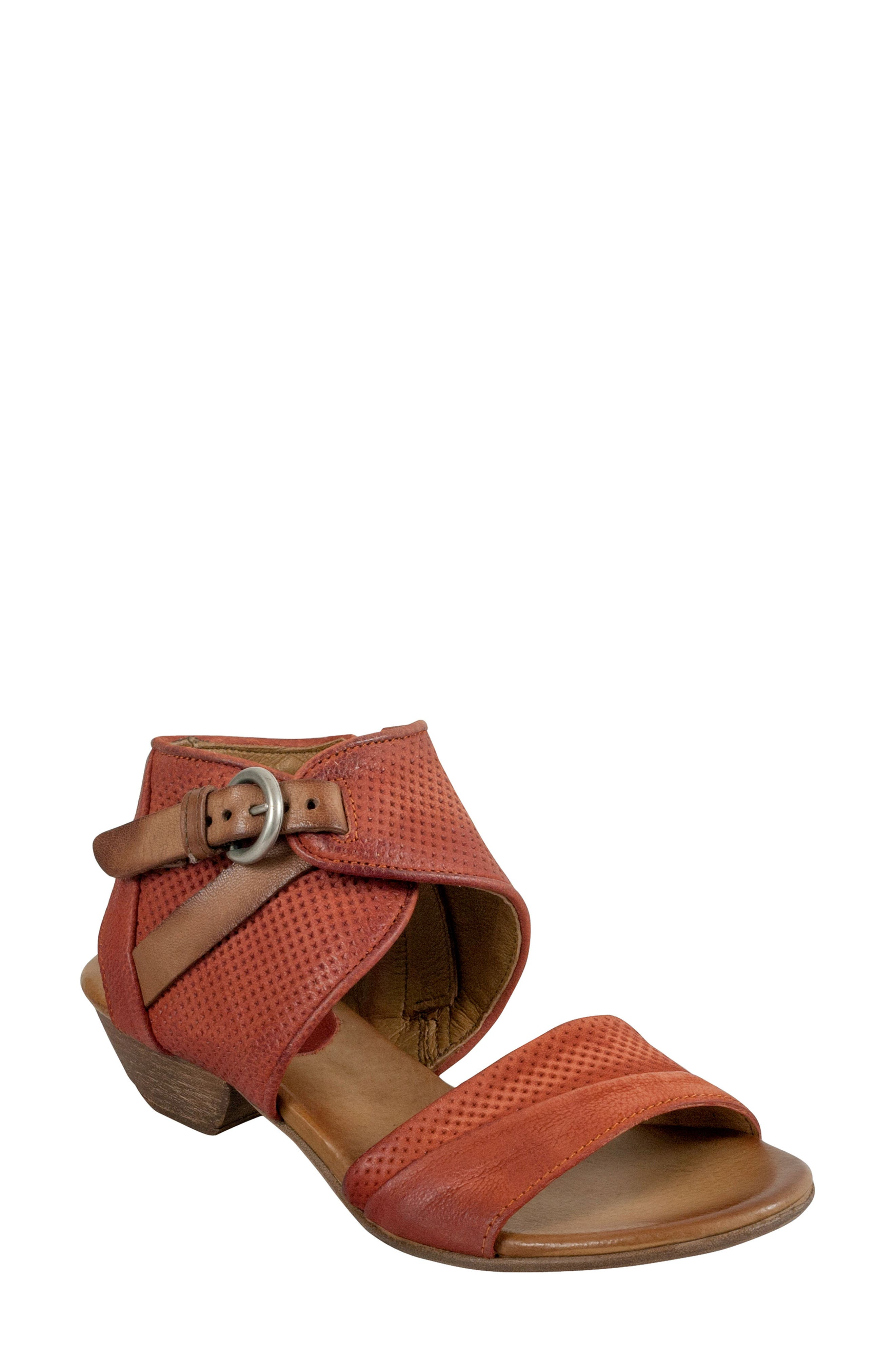 Chatham Textured Sandal,                         Main,                         color, Rust Leather