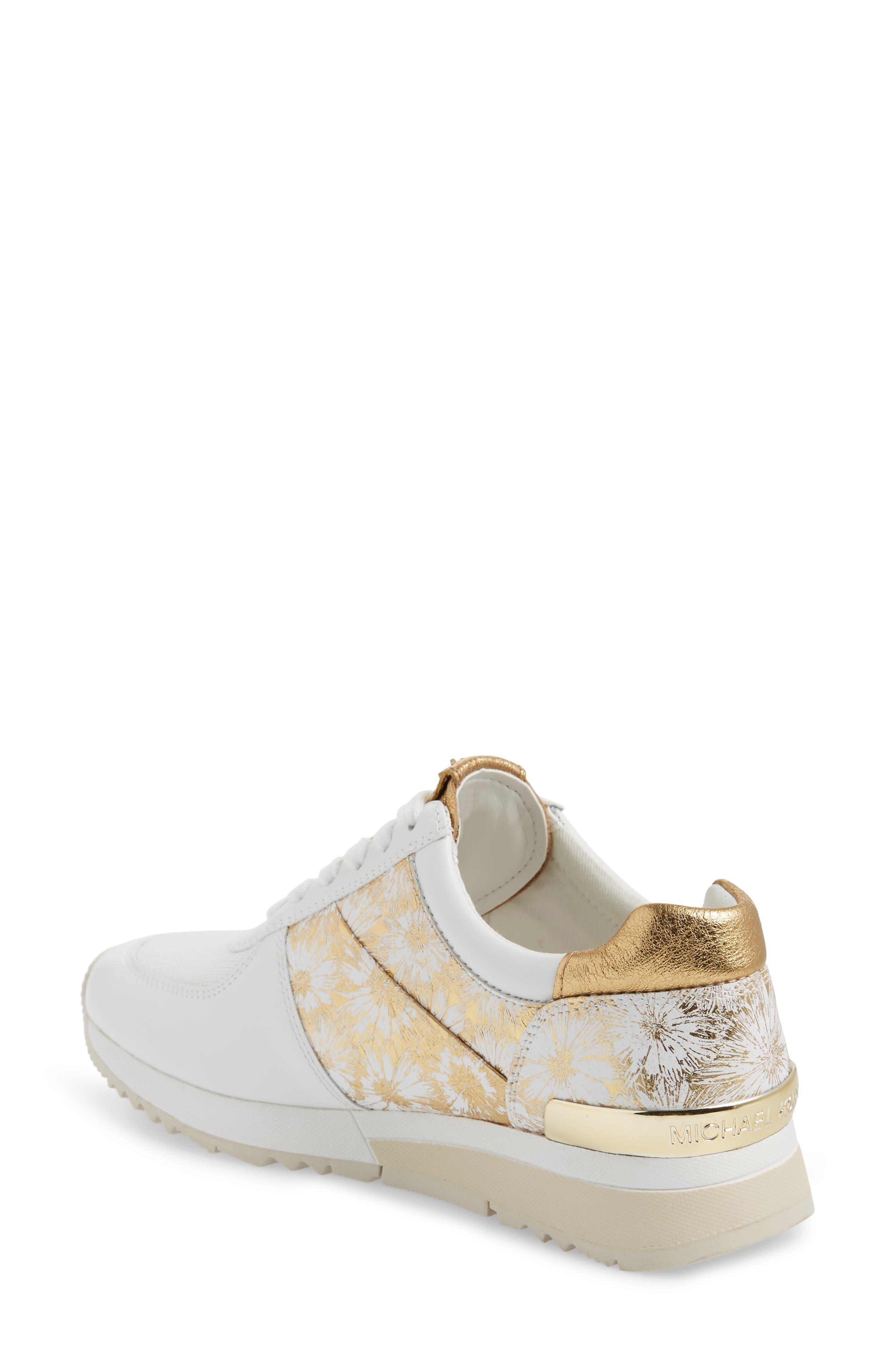 'Allie' Sneaker,                             Alternate thumbnail 2, color,                             Gold