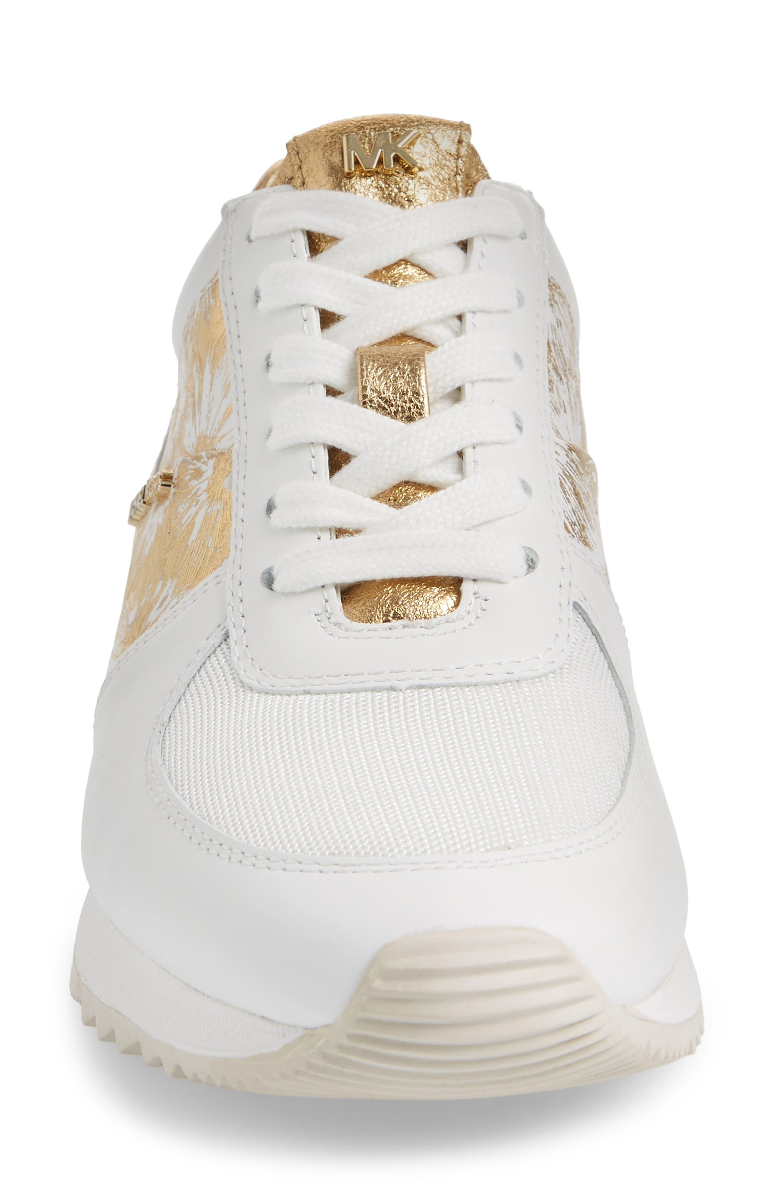 'Allie' Sneaker,                             Alternate thumbnail 4, color,                             Gold