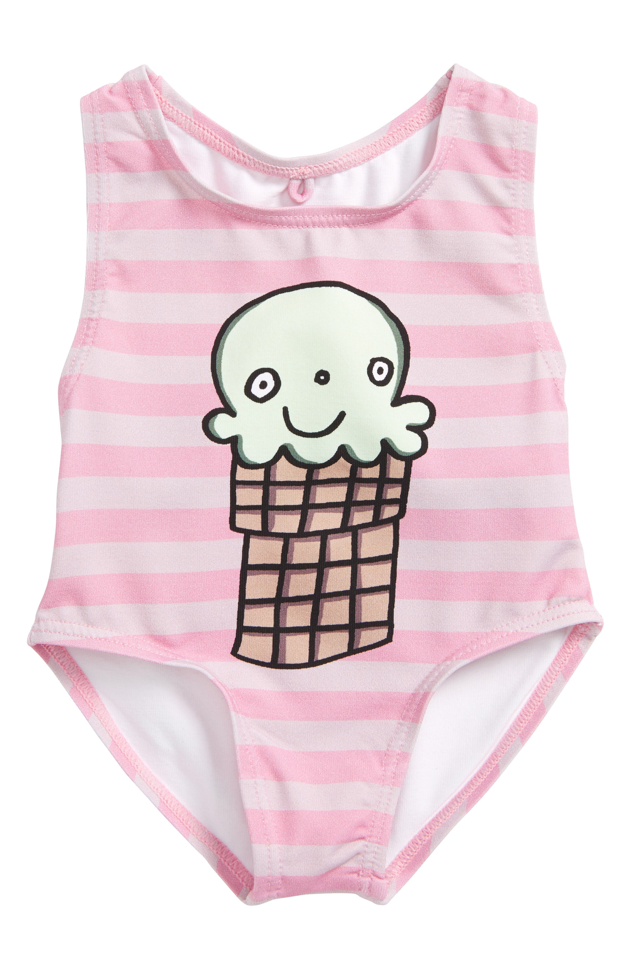 Molly Ice Cream One-Piece Swimsuit,                         Main,                         color, Lilac/ Pink