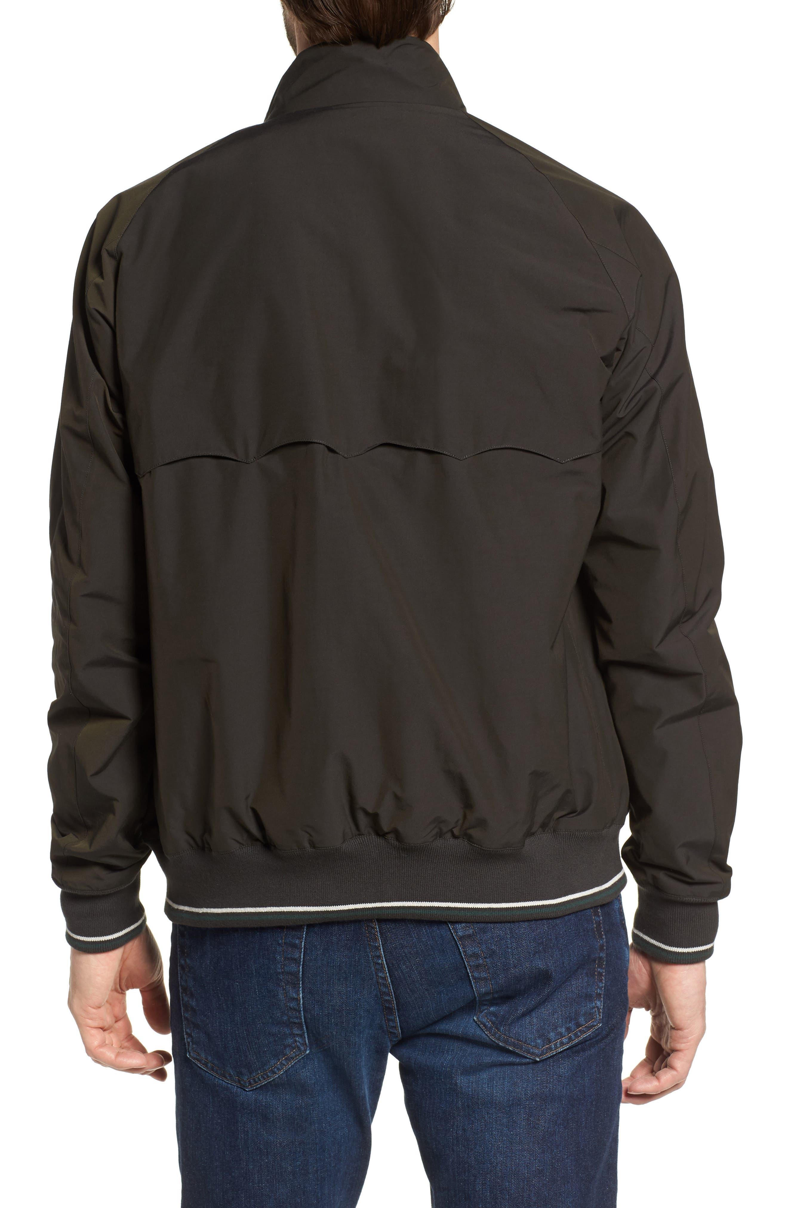 G9 Varsity Stripe Water Resistant Jacket,                             Alternate thumbnail 2, color,                             Faded Black