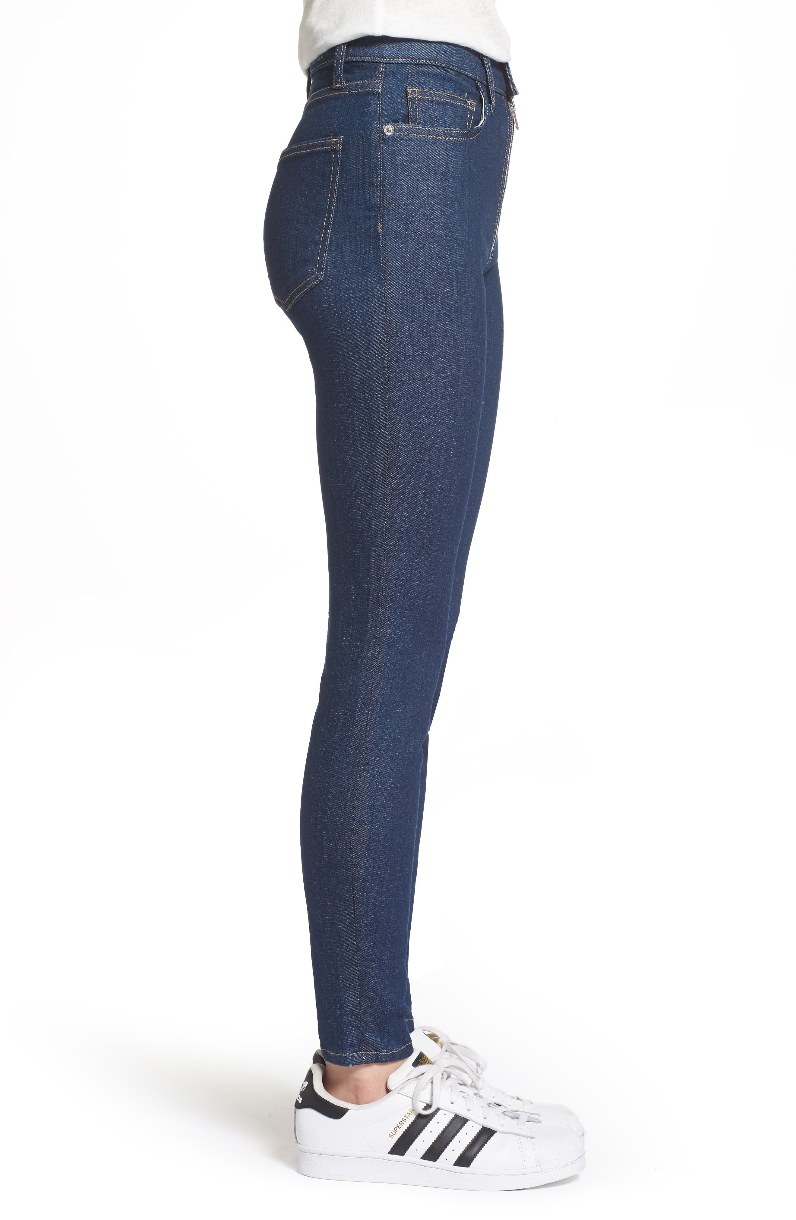 The Ultra High Waist Skinny Jeans,                             Alternate thumbnail 3, color,                             Rinse