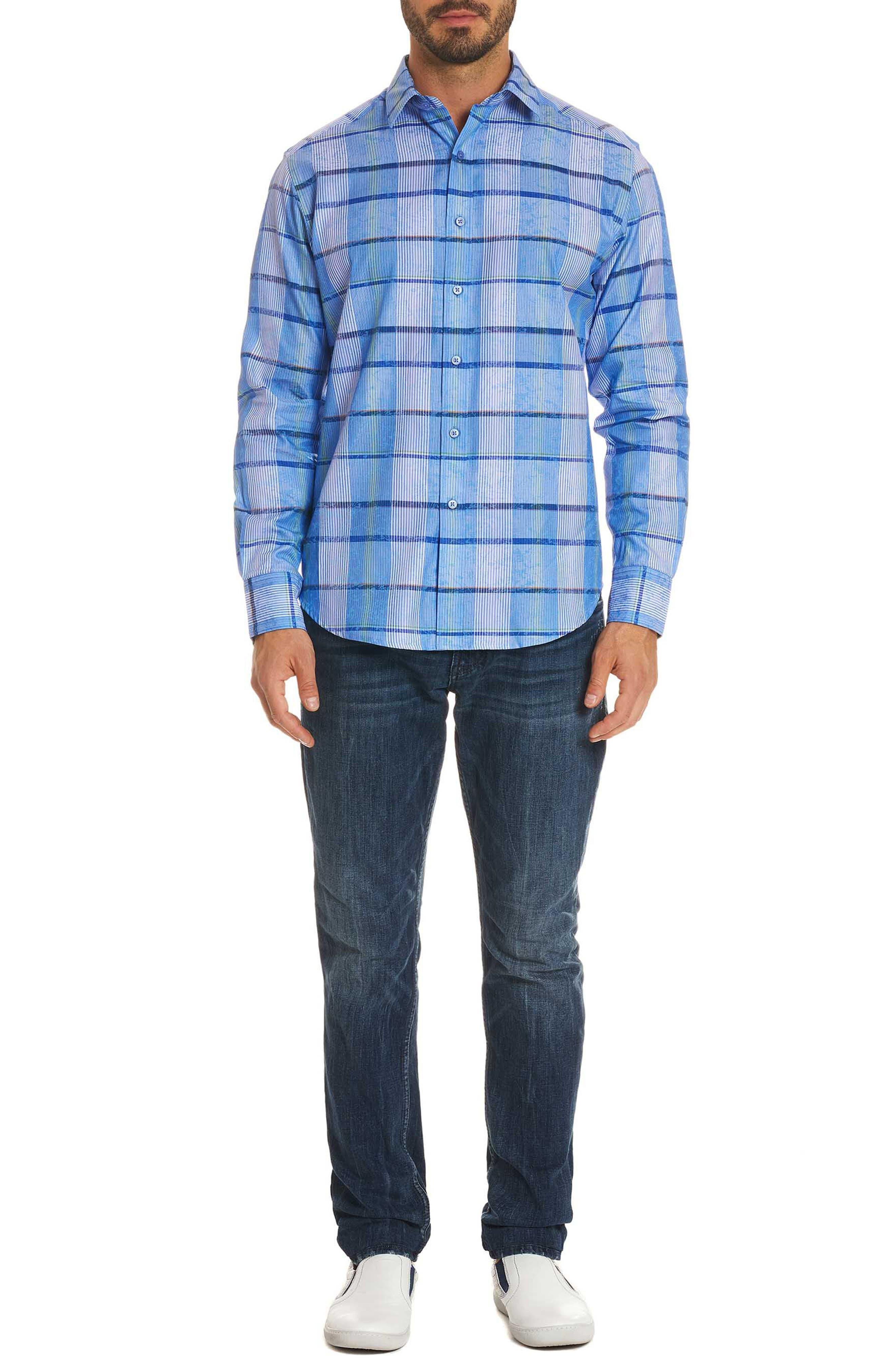 Ferro Classic Fit Sport Shirt,                             Alternate thumbnail 7, color,                             Blue