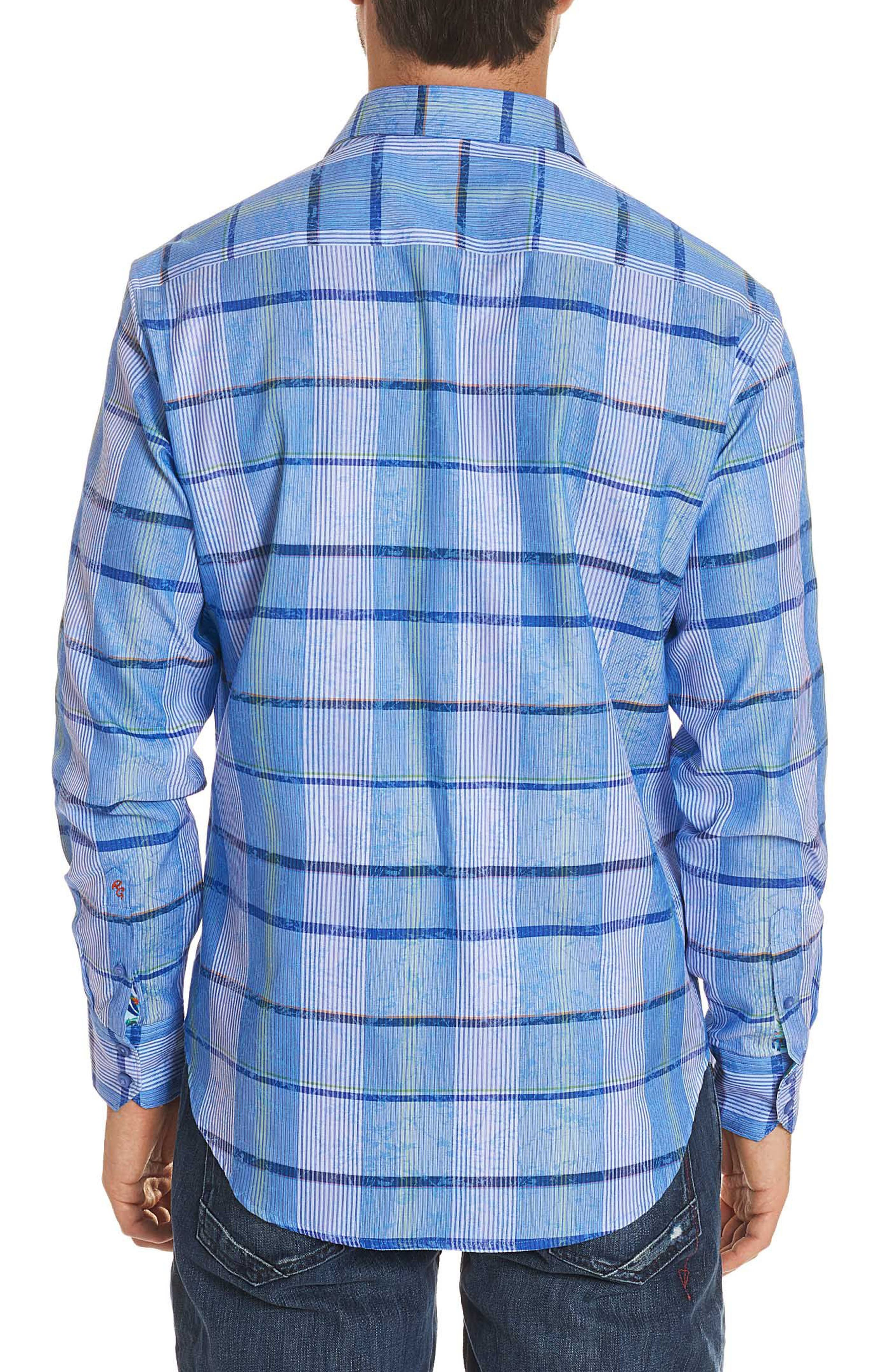 Ferro Classic Fit Sport Shirt,                             Alternate thumbnail 2, color,                             Blue