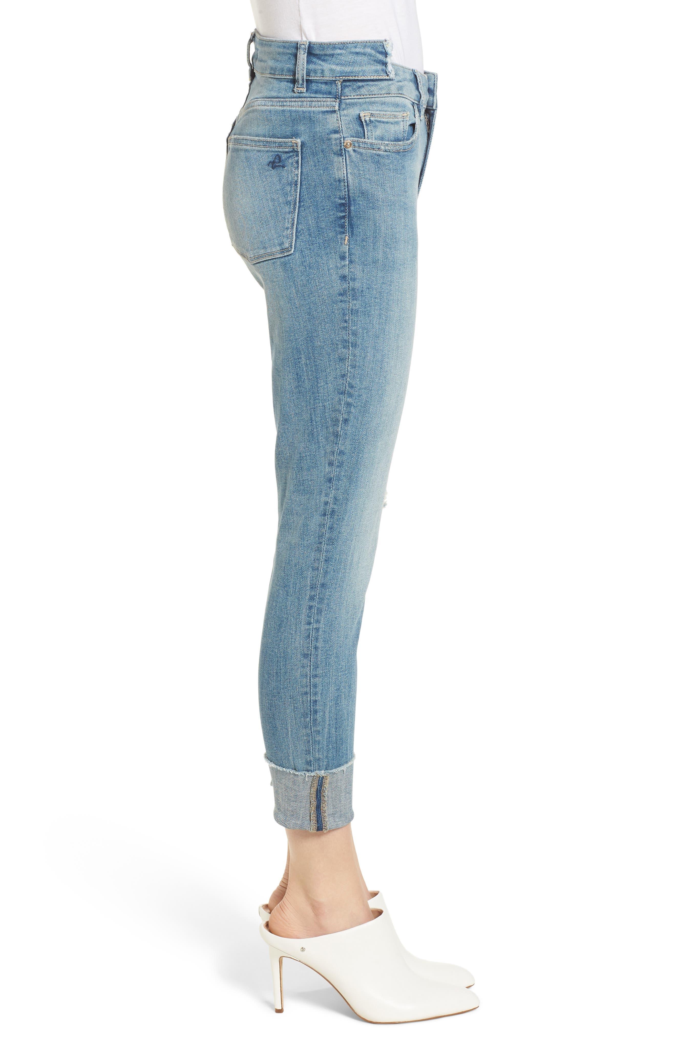 Farrow Instaslim High Waist Ankle Skinny Jeans,                             Alternate thumbnail 3, color,                             Amarillo