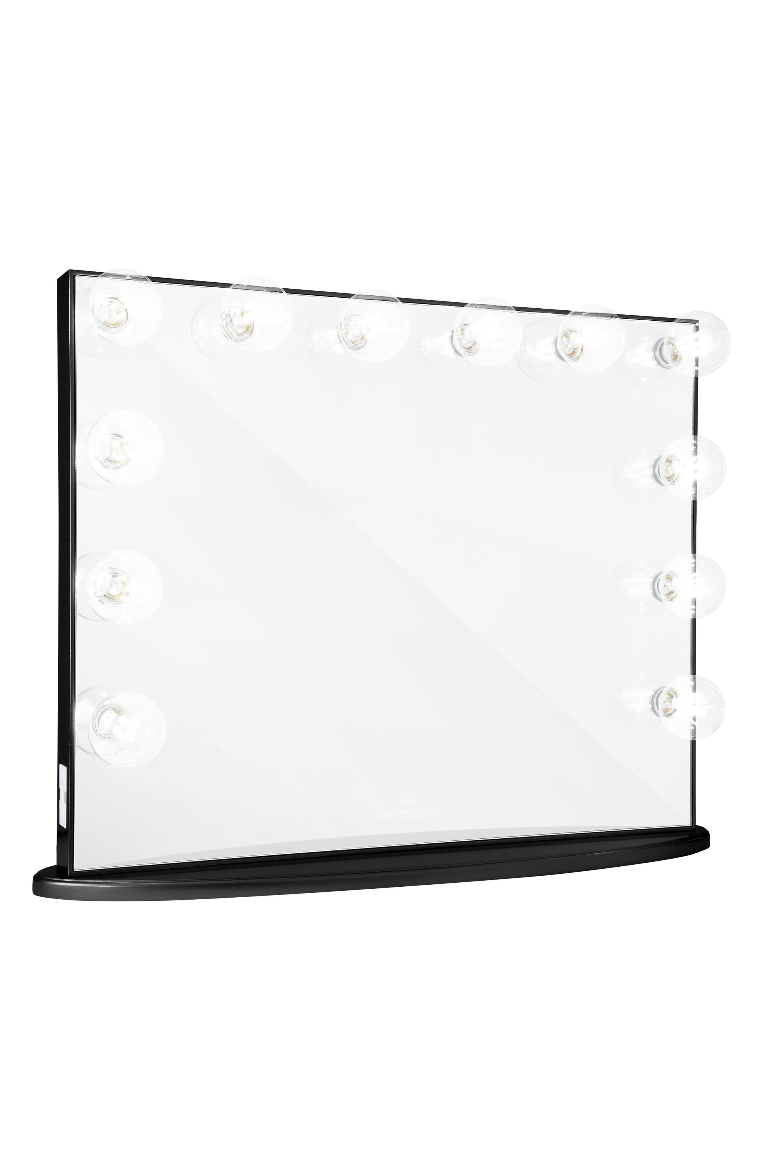 Hollywood Glow<sup>™</sup> Plus LED Vanity Mirror,                         Main,                         color, Pro Black