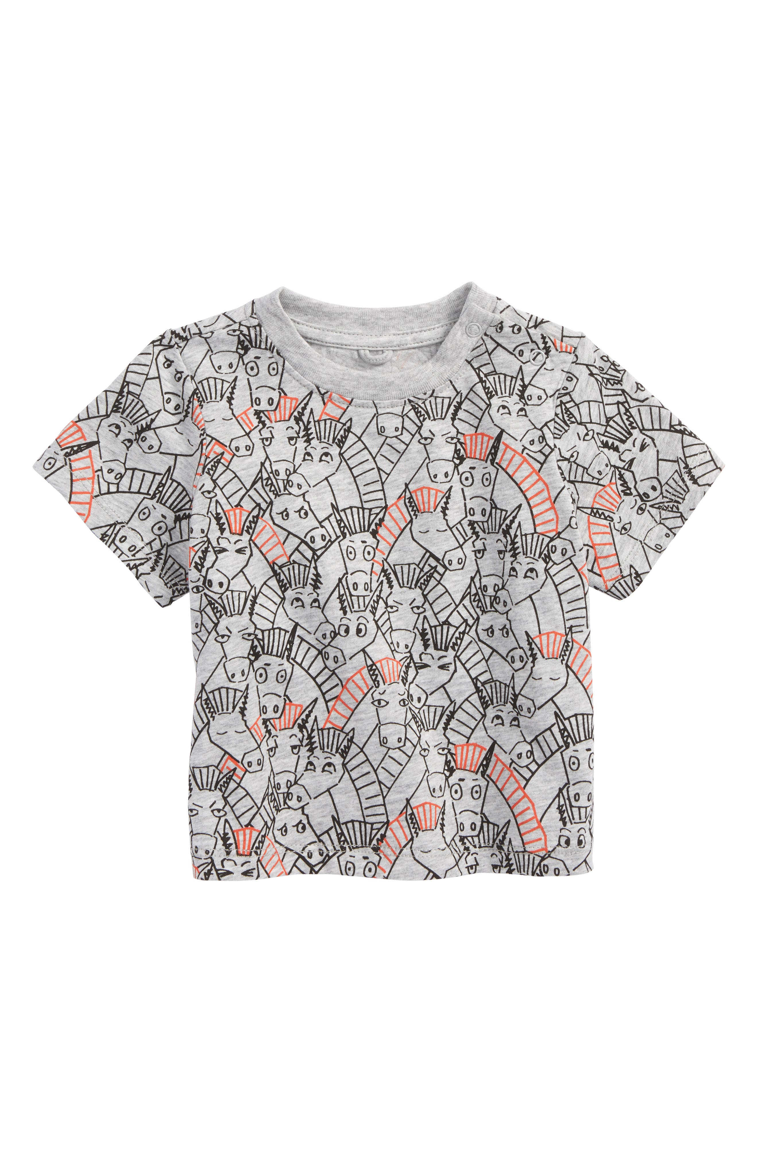 Chuckle All Over Donkey Print Tee,                             Main thumbnail 1, color,                             Baby  Donkey