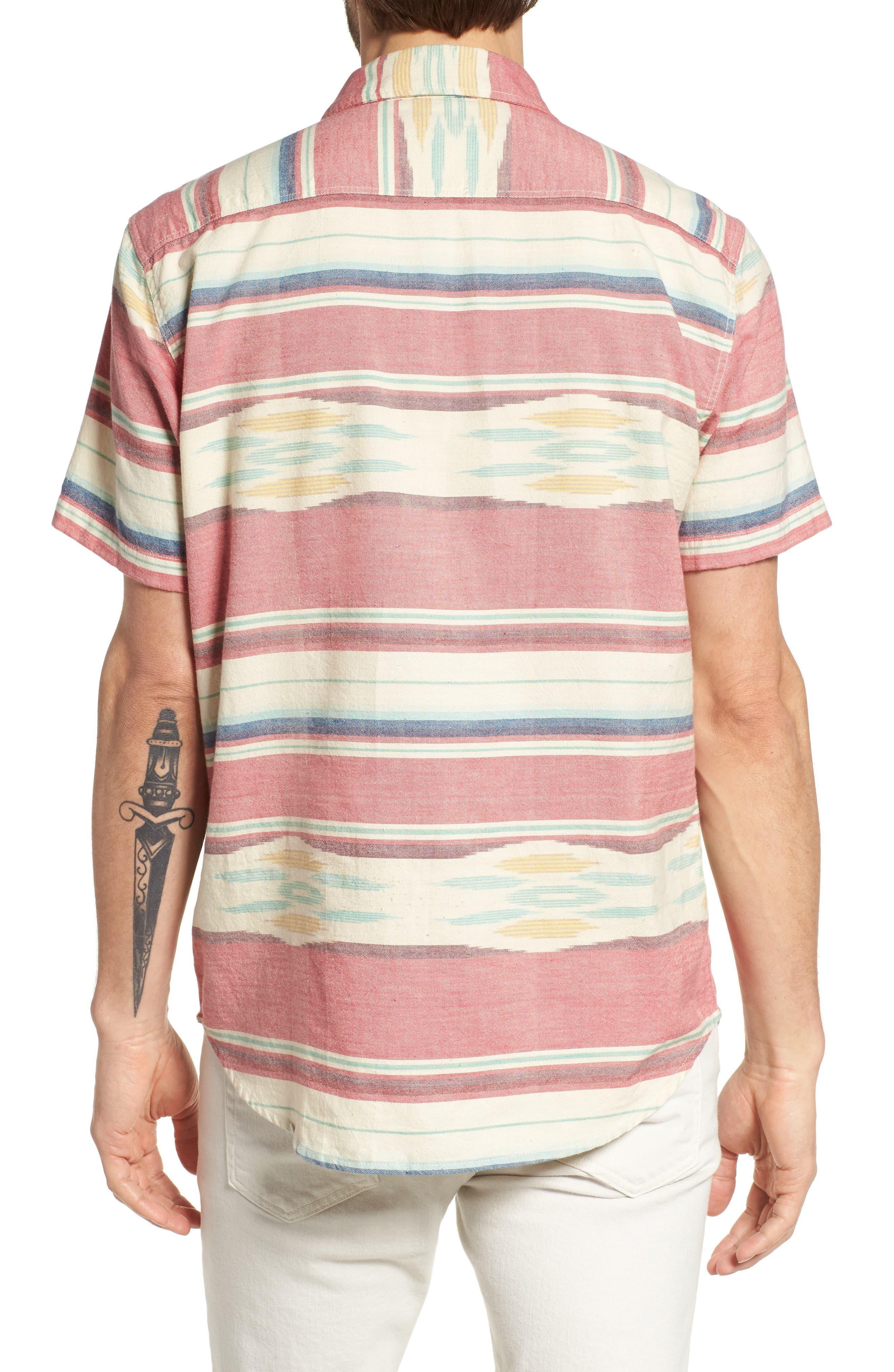 Coast Ikat Sport Shirt,                             Alternate thumbnail 3, color,                             Native Ikat