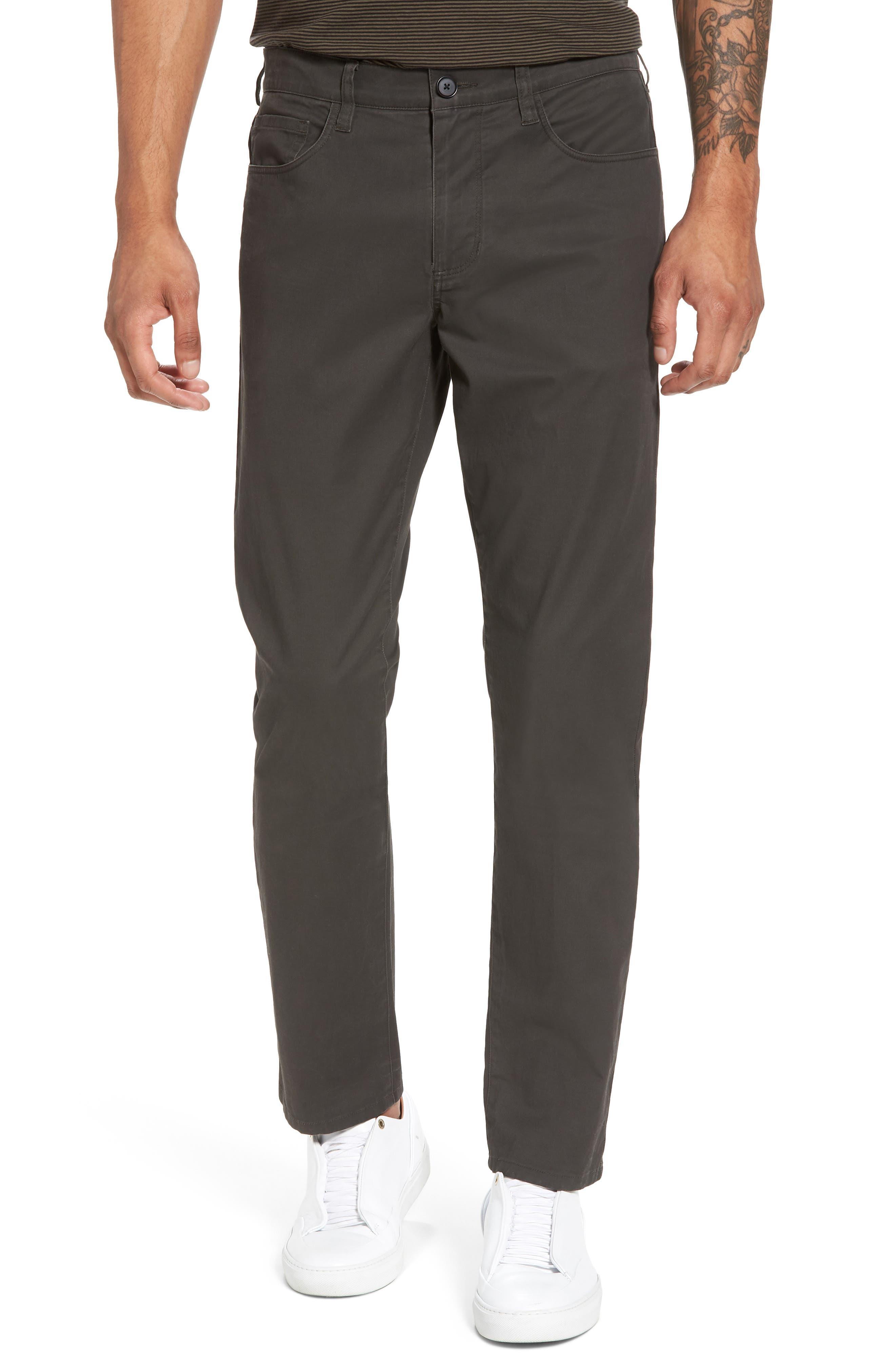 Slim Fit Five-Pocket Pants,                             Main thumbnail 1, color,                             Charcoal