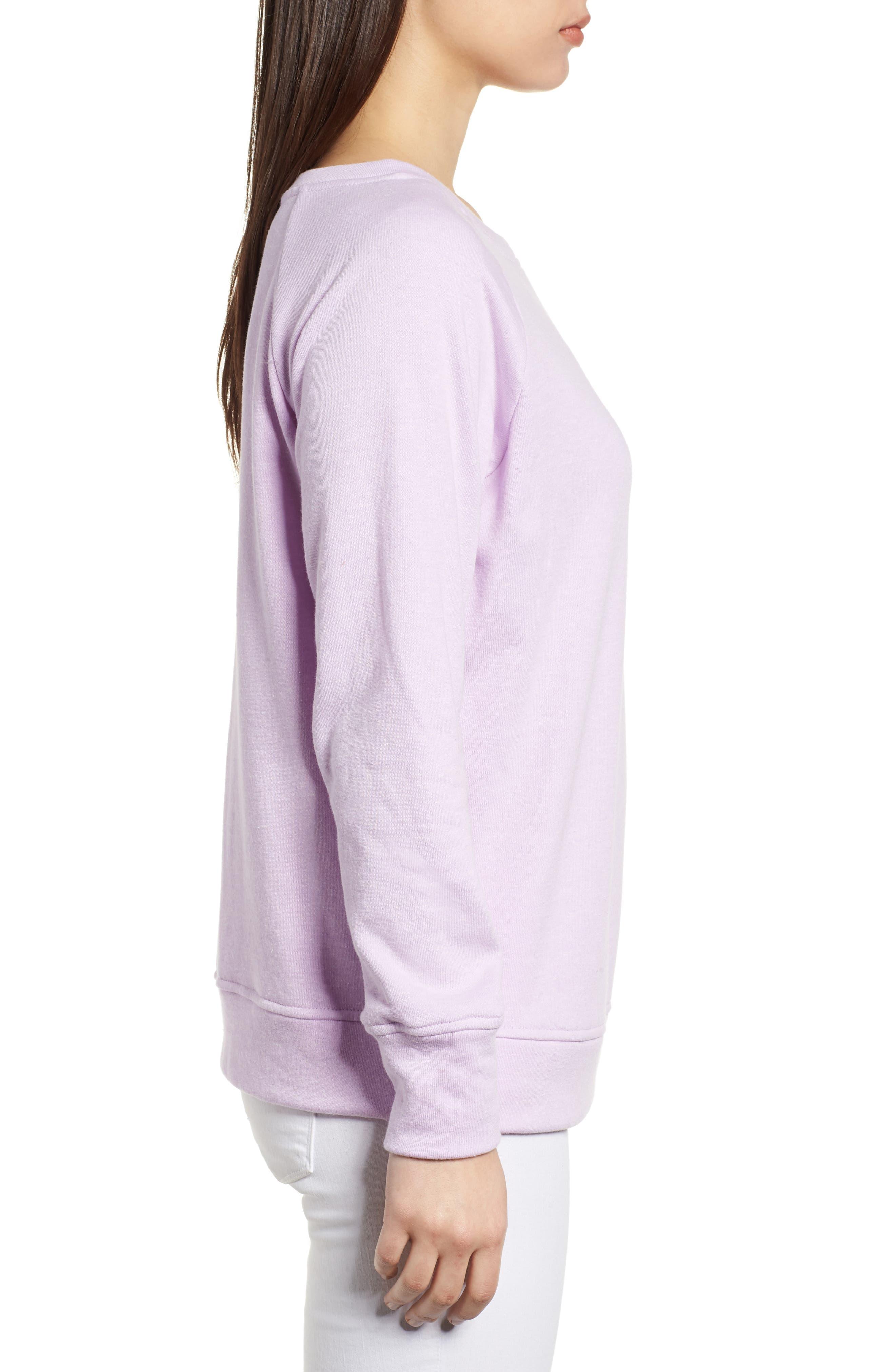 Slouch Sweatshirt,                             Alternate thumbnail 3, color,                             Pop Lavender