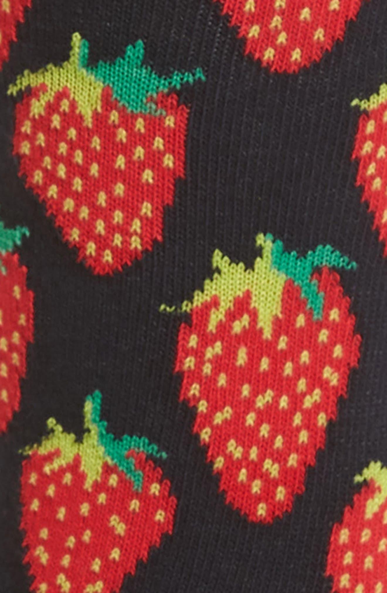 Alternate Image 2  - Happy Socks Strawberry Crew Socks (3 for $30)