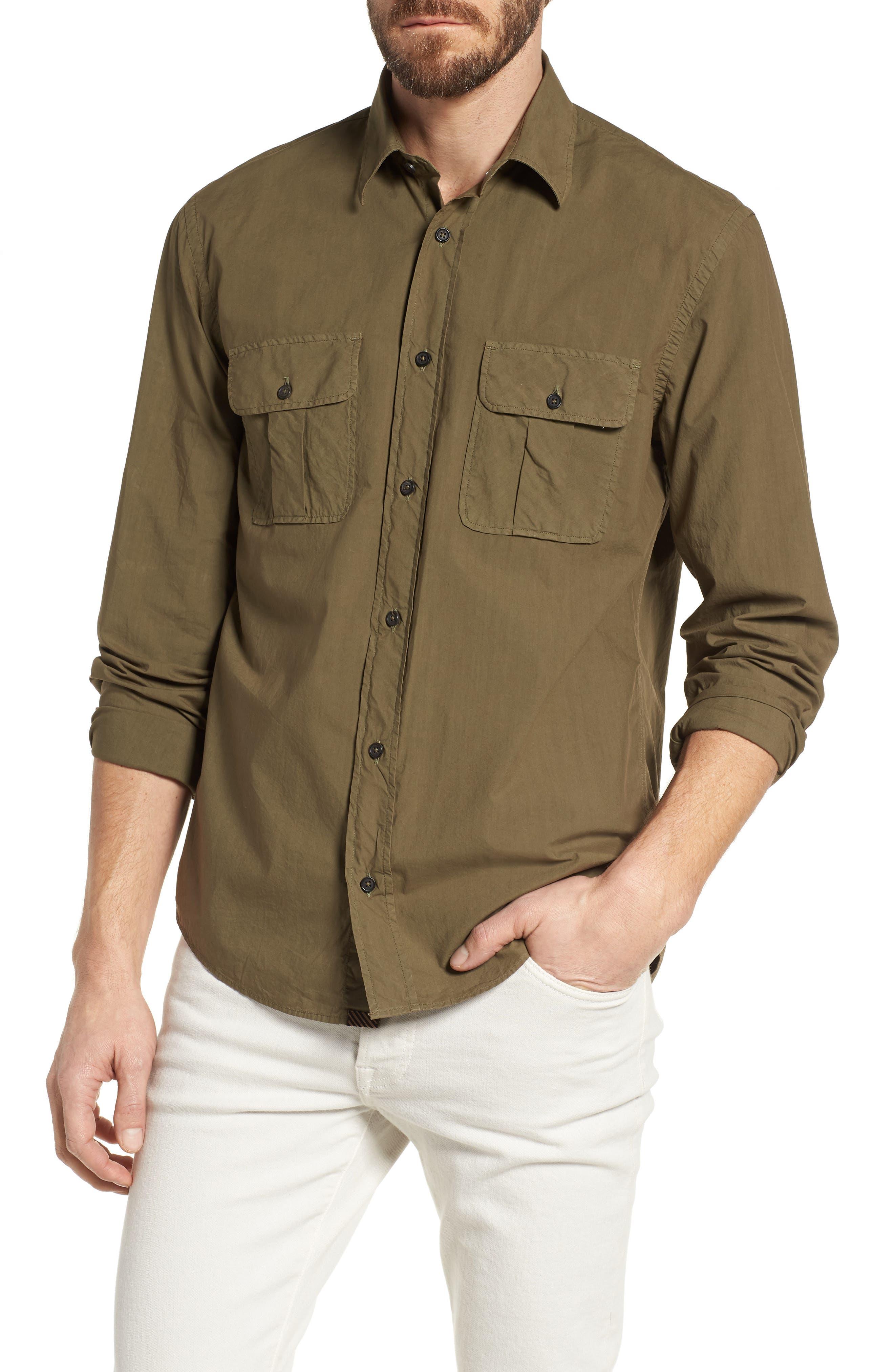Main Image - Billy Reid Brantley Slim Fit Sport Shirt