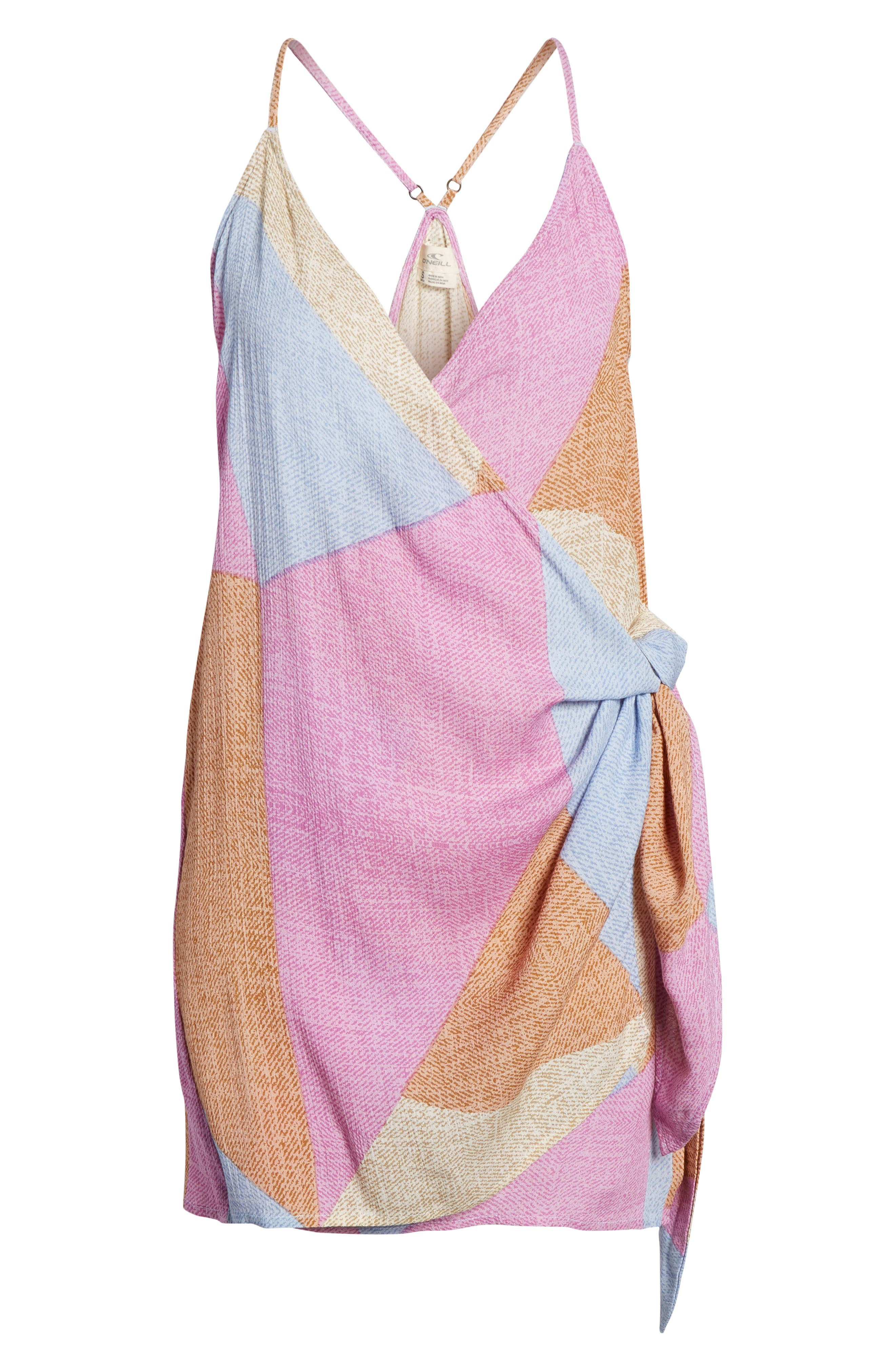 Marlo Wrap Dress,                             Alternate thumbnail 6, color,                             Multi Colored