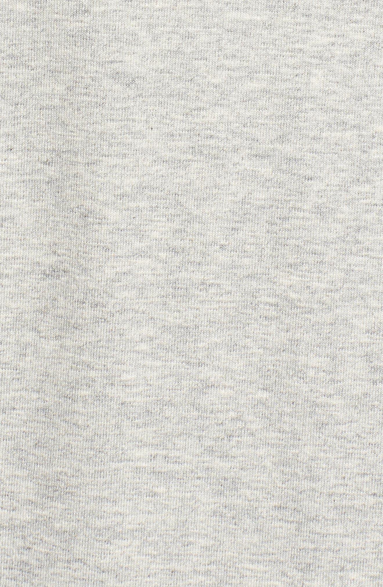 Hooded Stretch Organic Cotton Cardigan,                             Alternate thumbnail 6, color,                             Dark Pearl