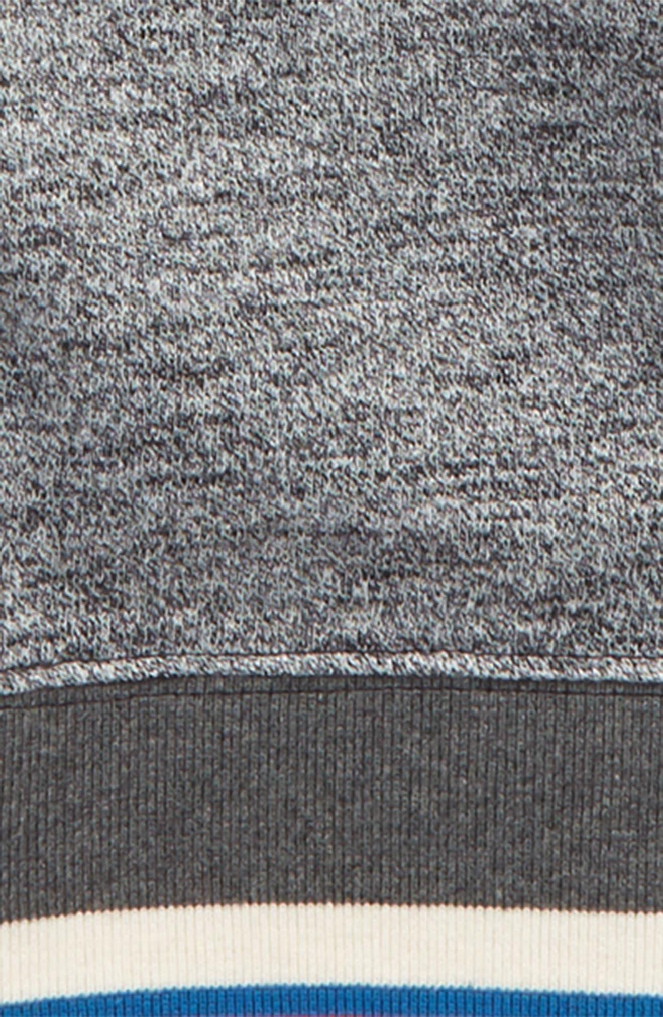 Stripe Crewneck Sweatshirt,                             Alternate thumbnail 2, color,                             Grey Alloy