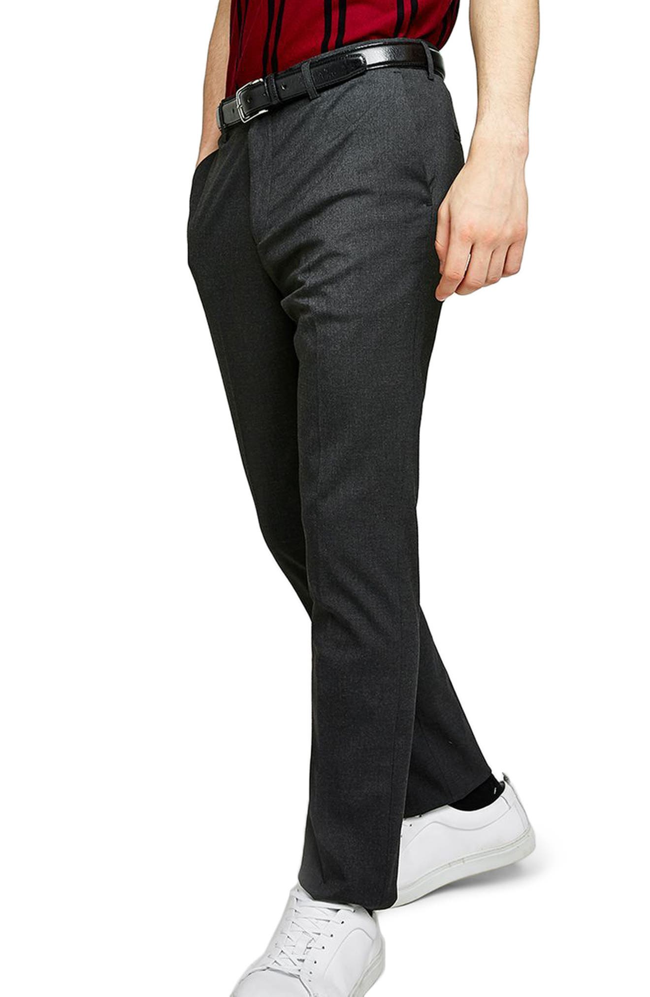 Skinny Fit Trousers,                         Main,                         color, Charcoal