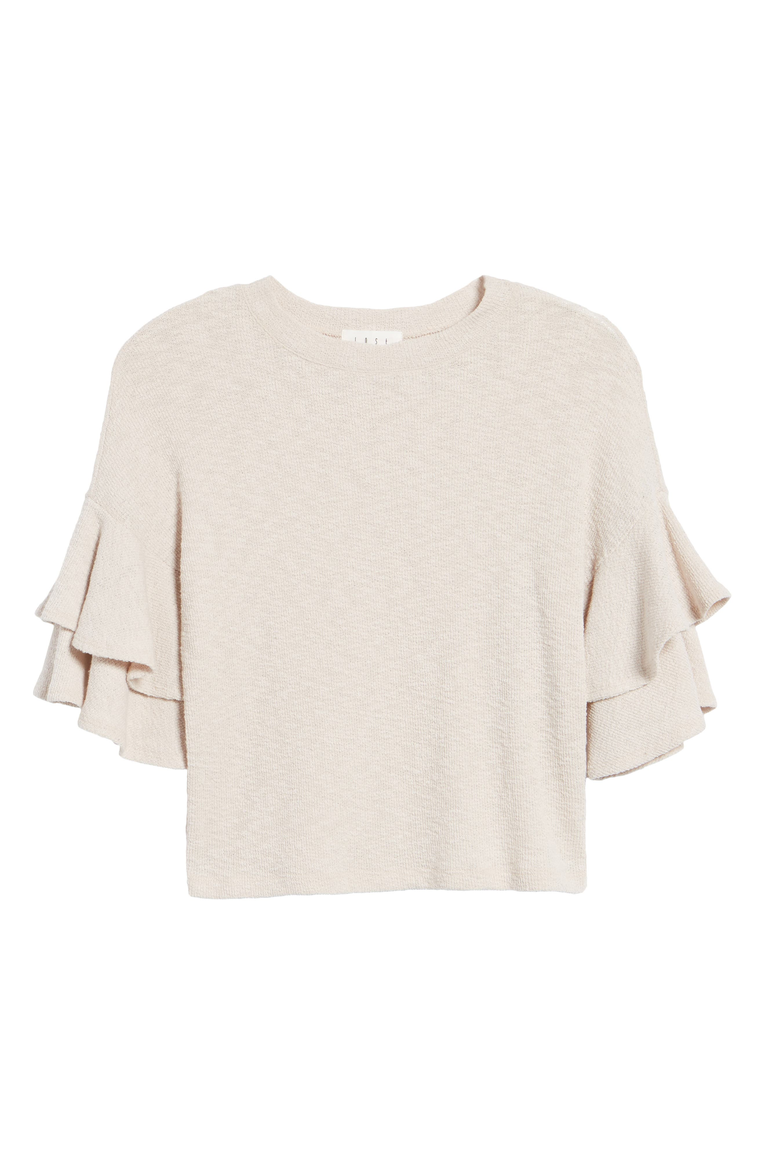 Cherry Blossom Ruffle Sleeve Top,                             Alternate thumbnail 7, color,                             Pale Pink