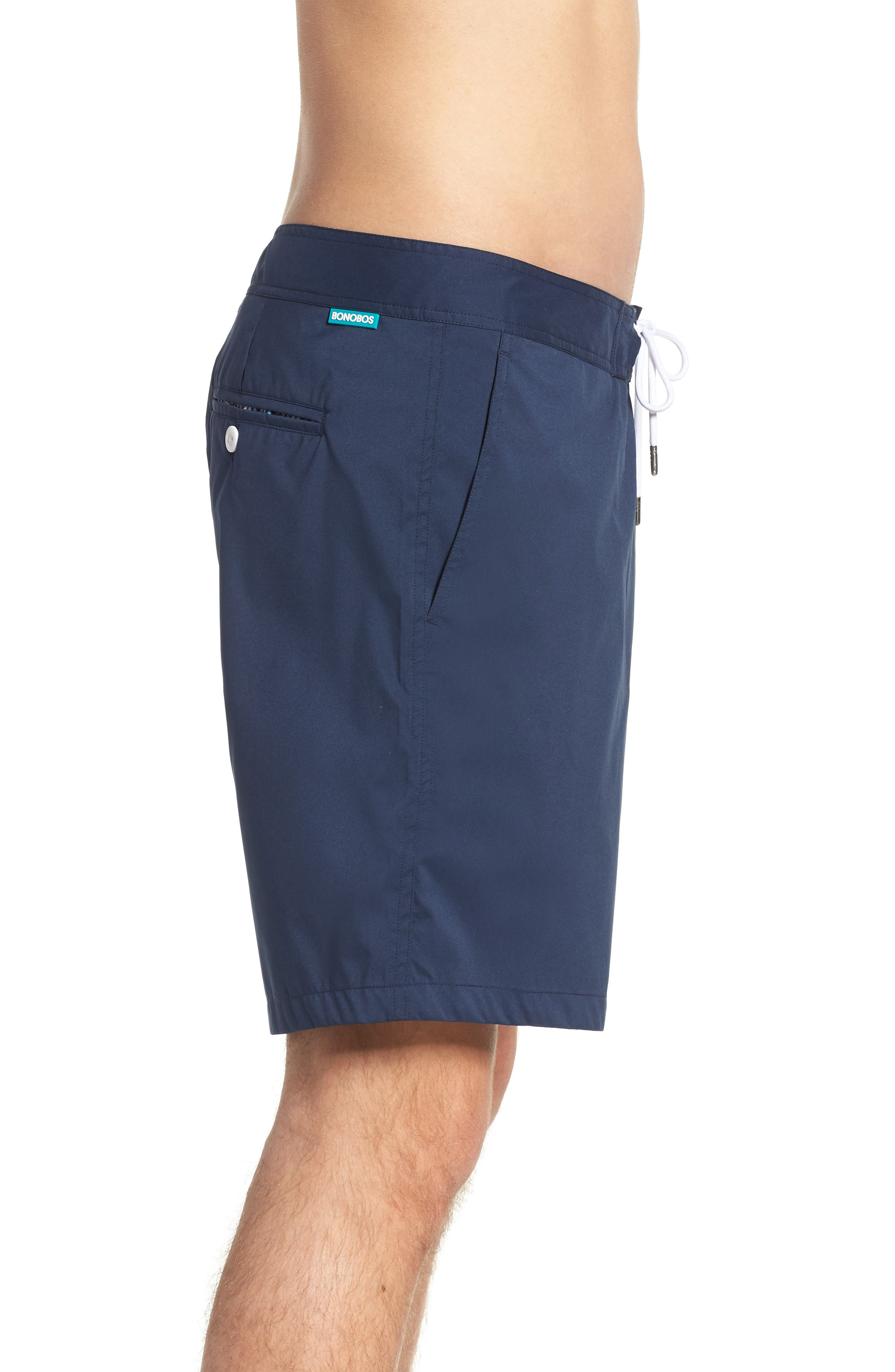 Solid 7-Inch Swim Trunks,                             Alternate thumbnail 3, color,                             Indio