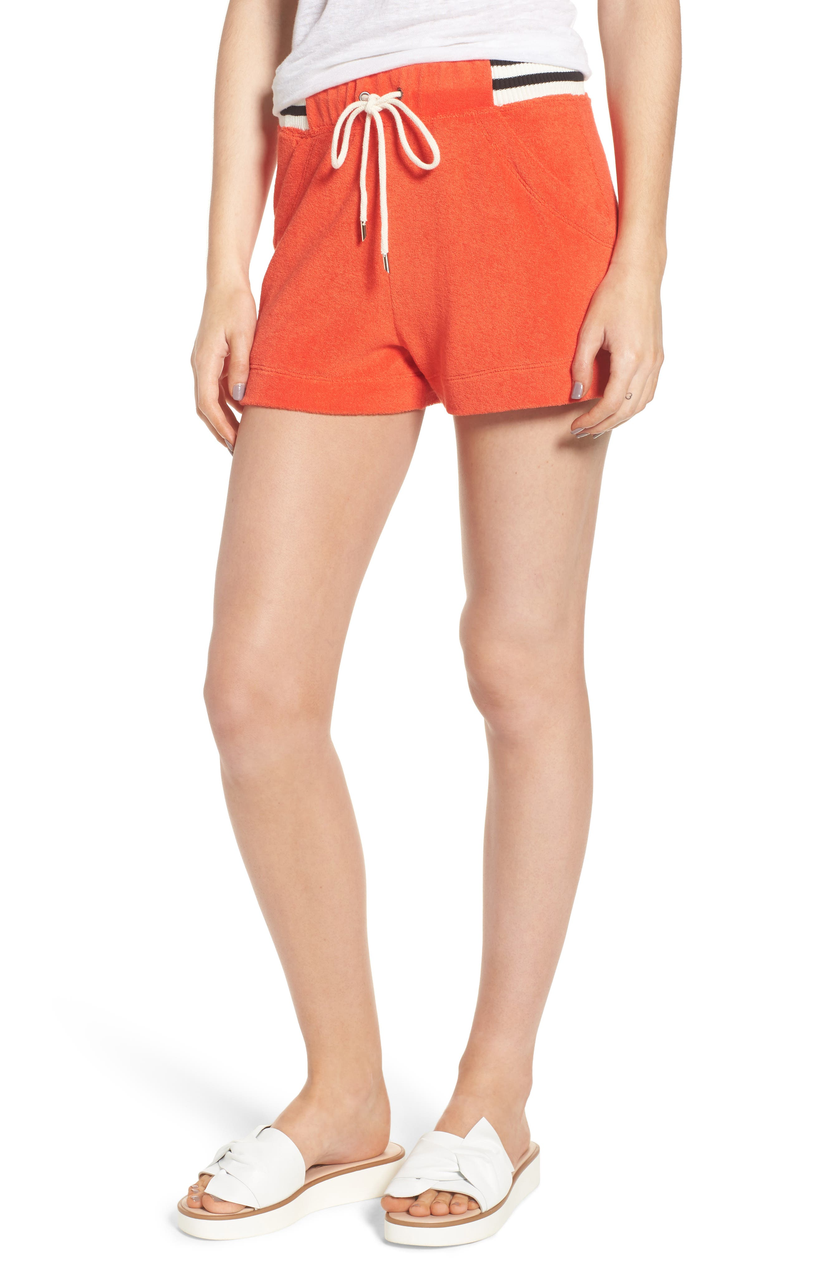 x Margherita Sportivo French Terry Shorts,                             Main thumbnail 1, color,                             Red